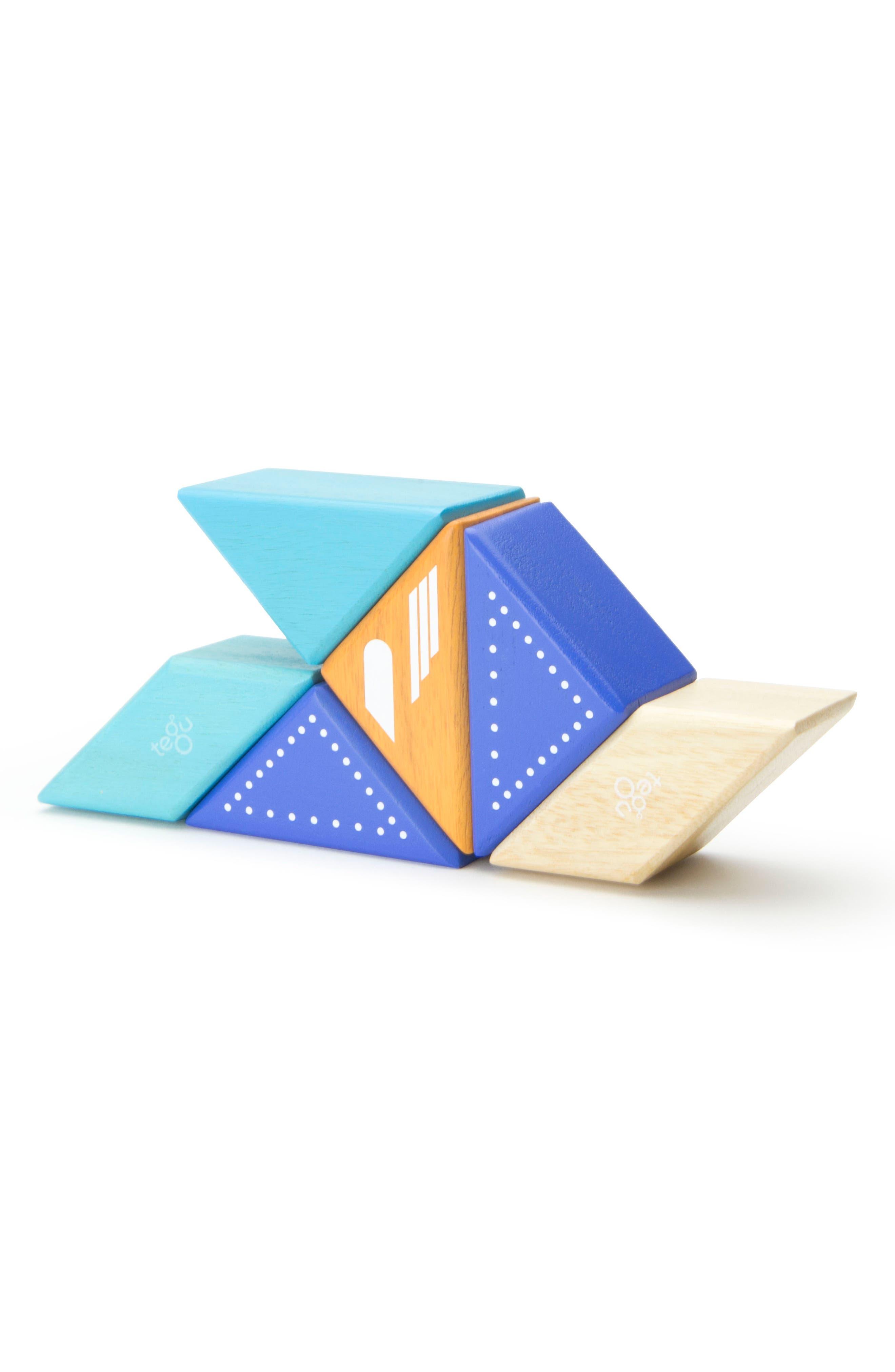 Travel Pals 6-Piece Jet Magnetic Block Set,                             Alternate thumbnail 4, color,                             Blue