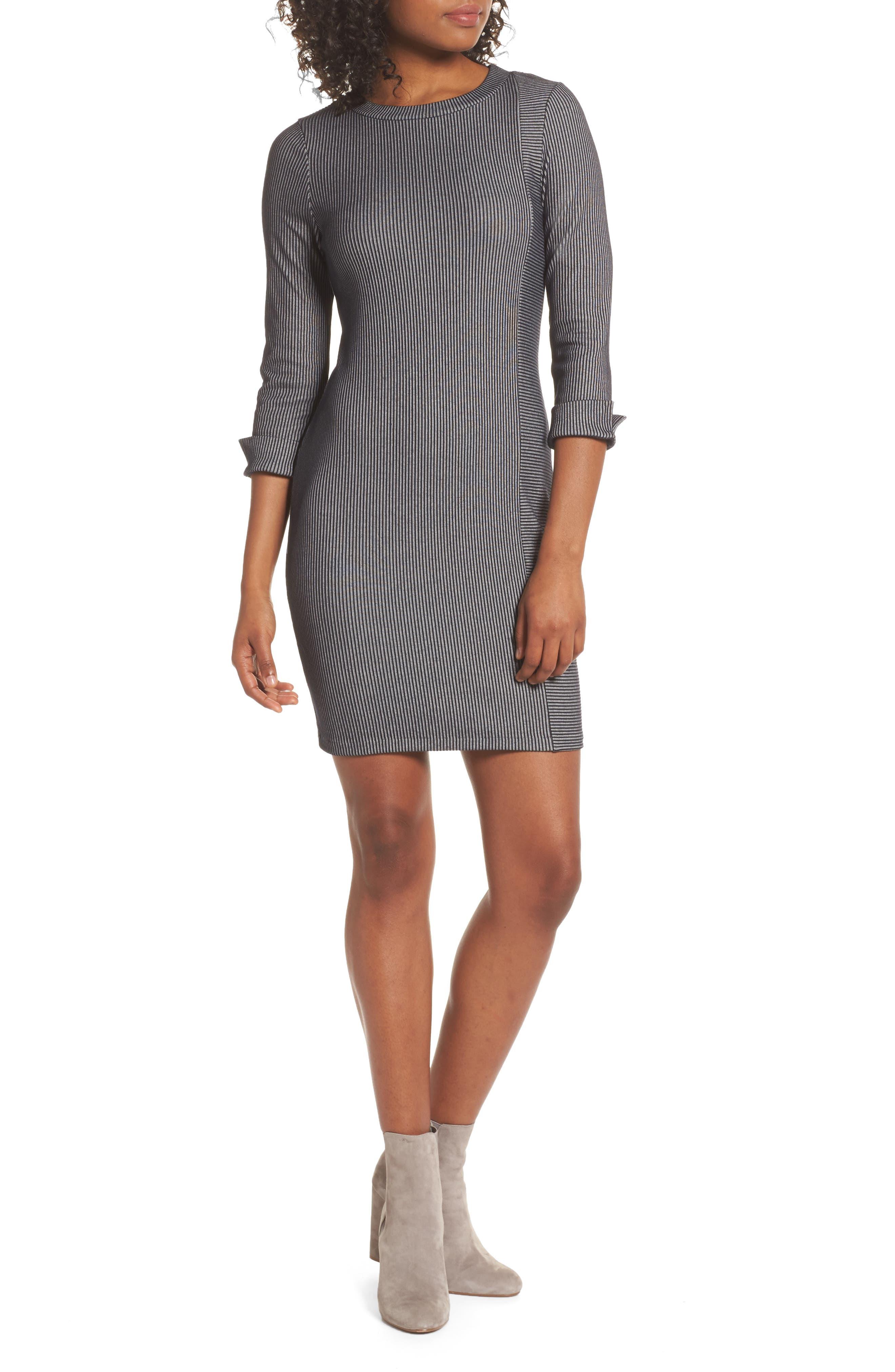 Rosario Jersey Body-Con Dress,                             Main thumbnail 1, color,                             Utility Blue/ Linen White