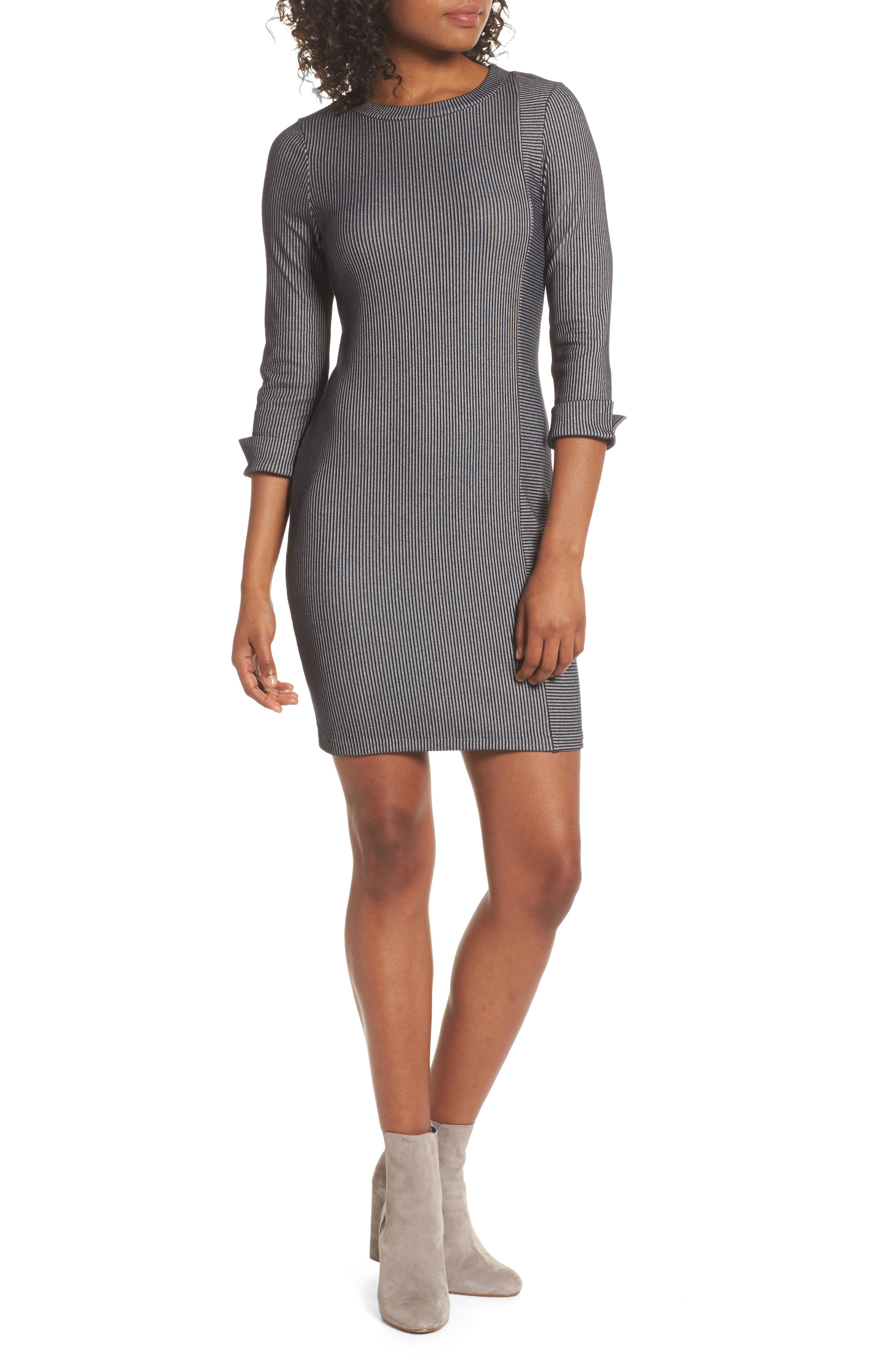 Rosario Jersey Body-Con Dress,                         Main,                         color, Utility Blue/ Linen White