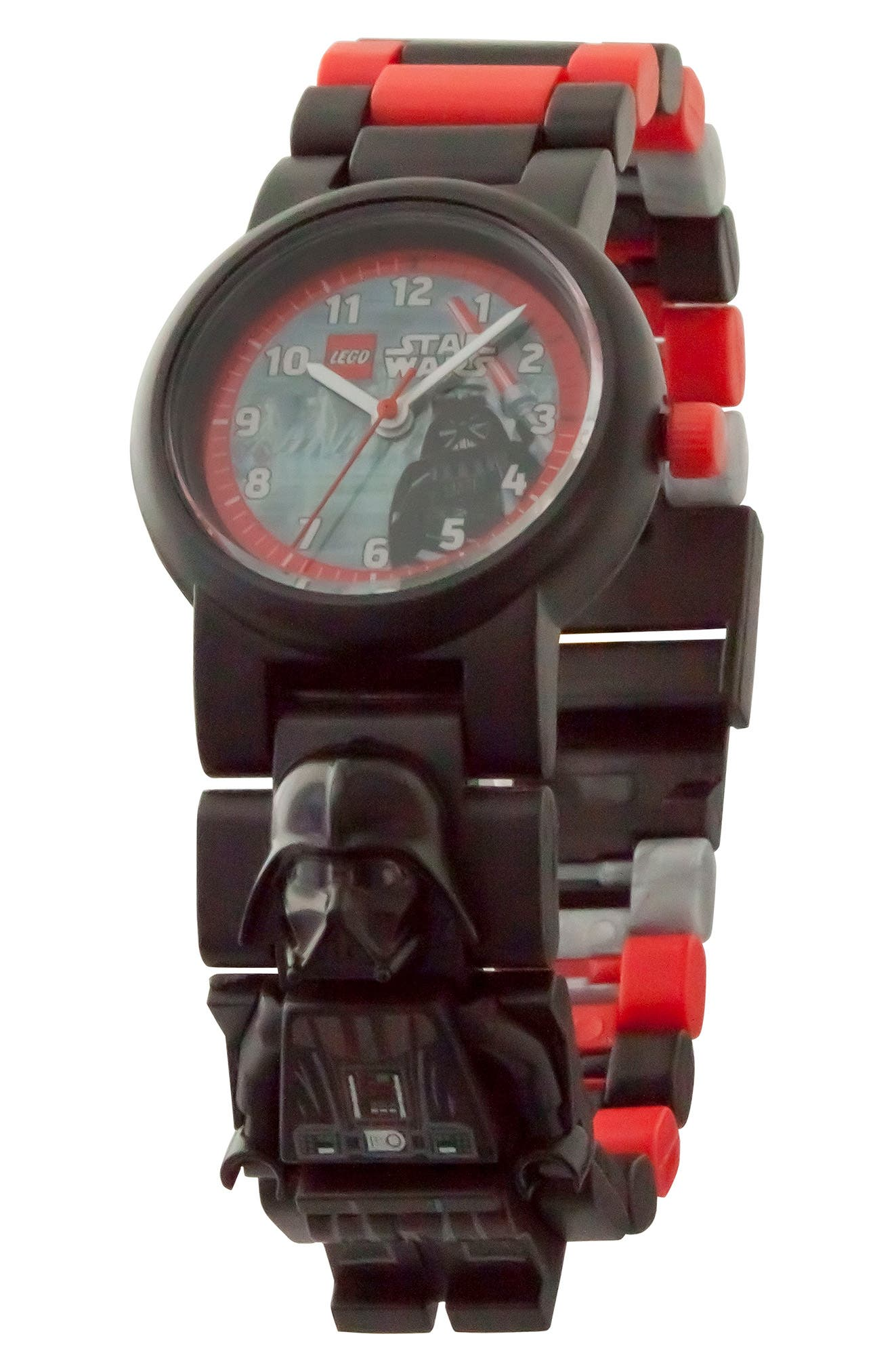 24-Piece Star Wars<sup>™</sup> Darth Vader Buildable Water-Resistant Watch,                             Alternate thumbnail 2, color,                             Black