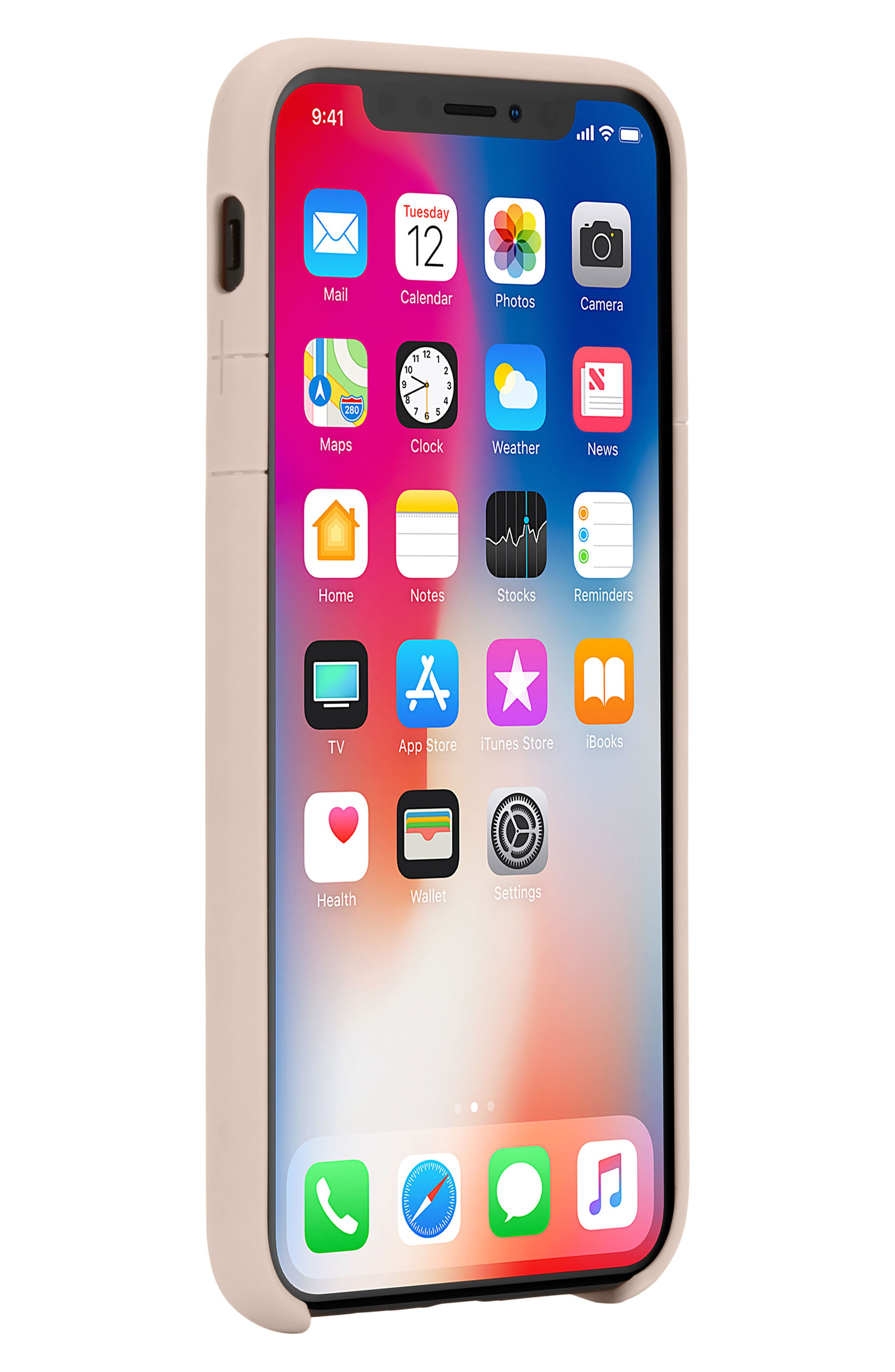 Lite iPhone iPhone X Case,                             Alternate thumbnail 7, color,                             Rose Gold