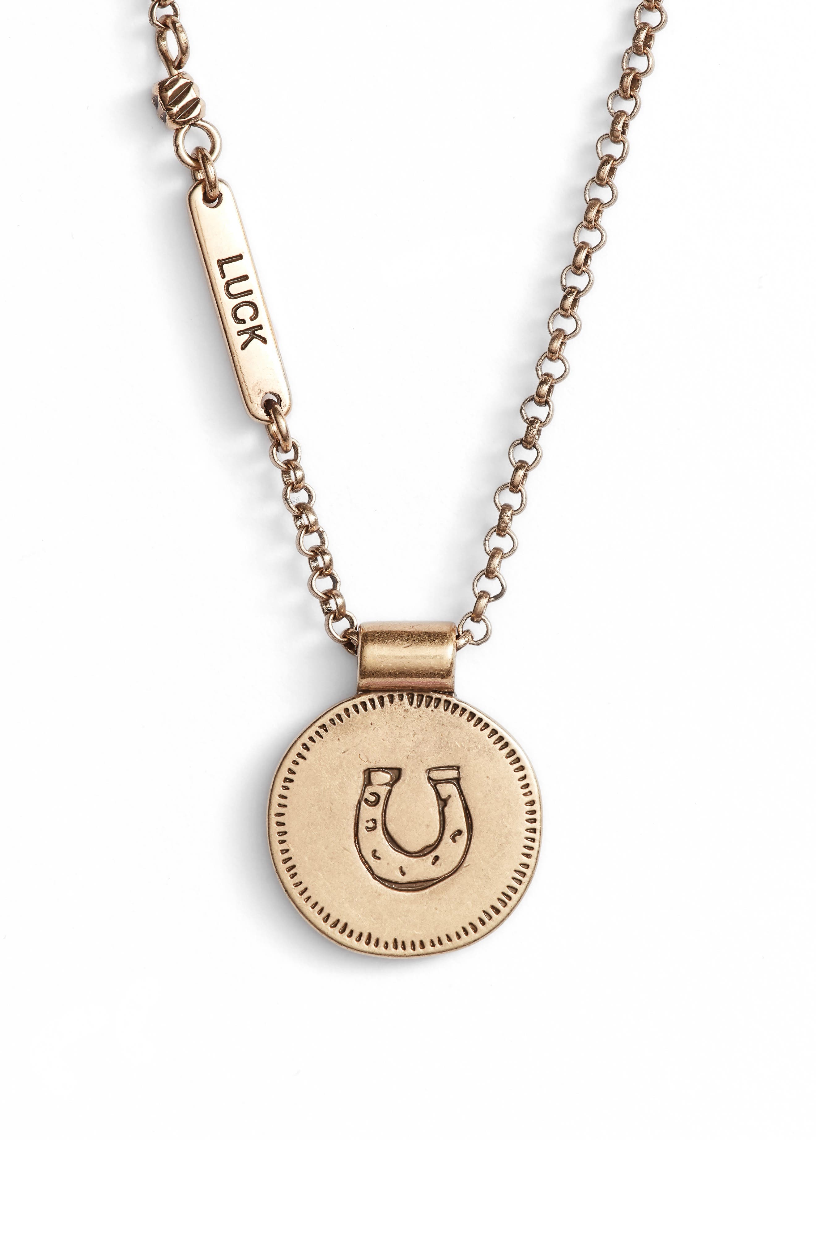Treasure & Bond Delicate Sentiment Necklace