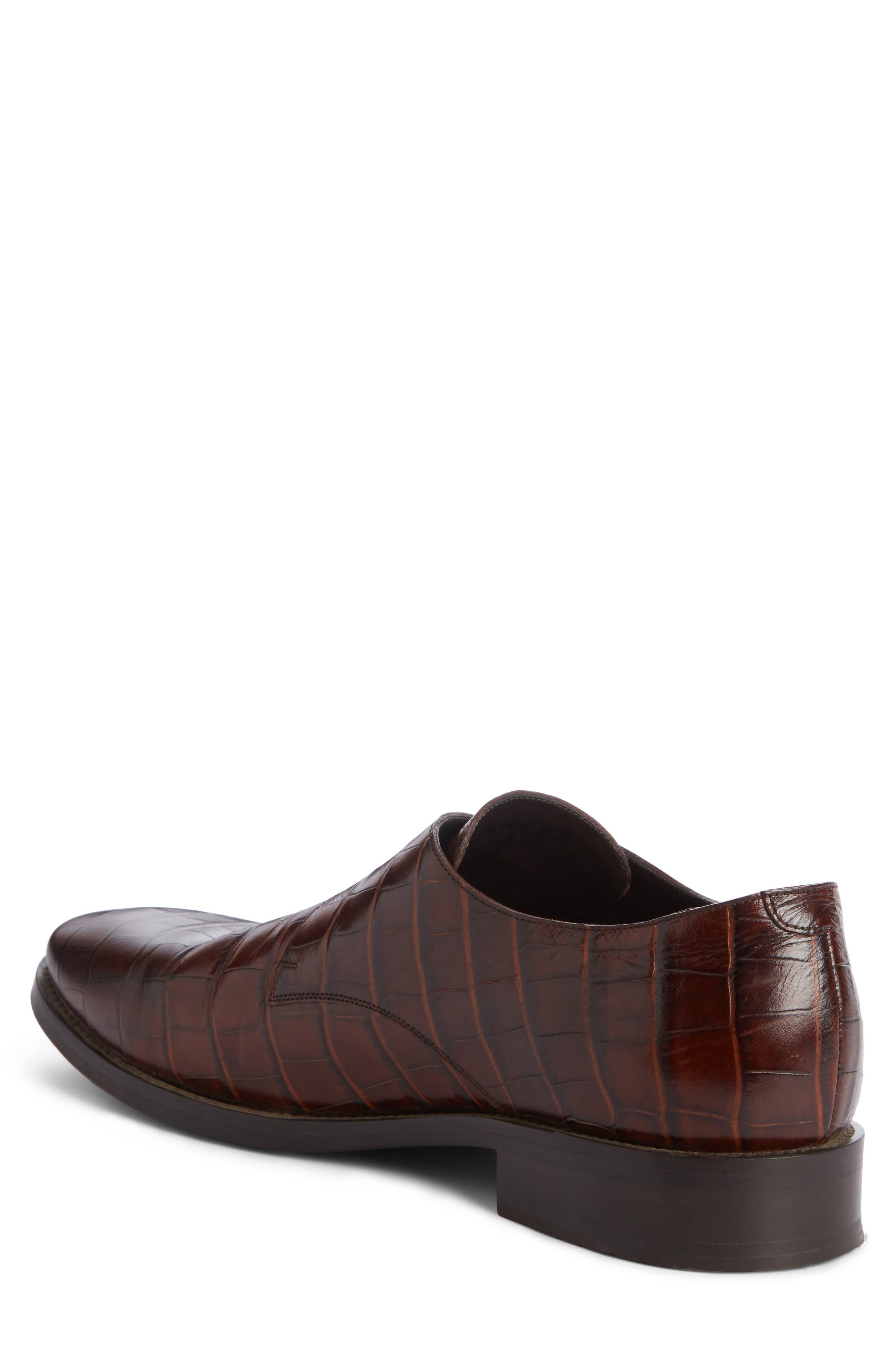 Monk Strap Shoe,                             Alternate thumbnail 2, color,                             Marron Chocolat