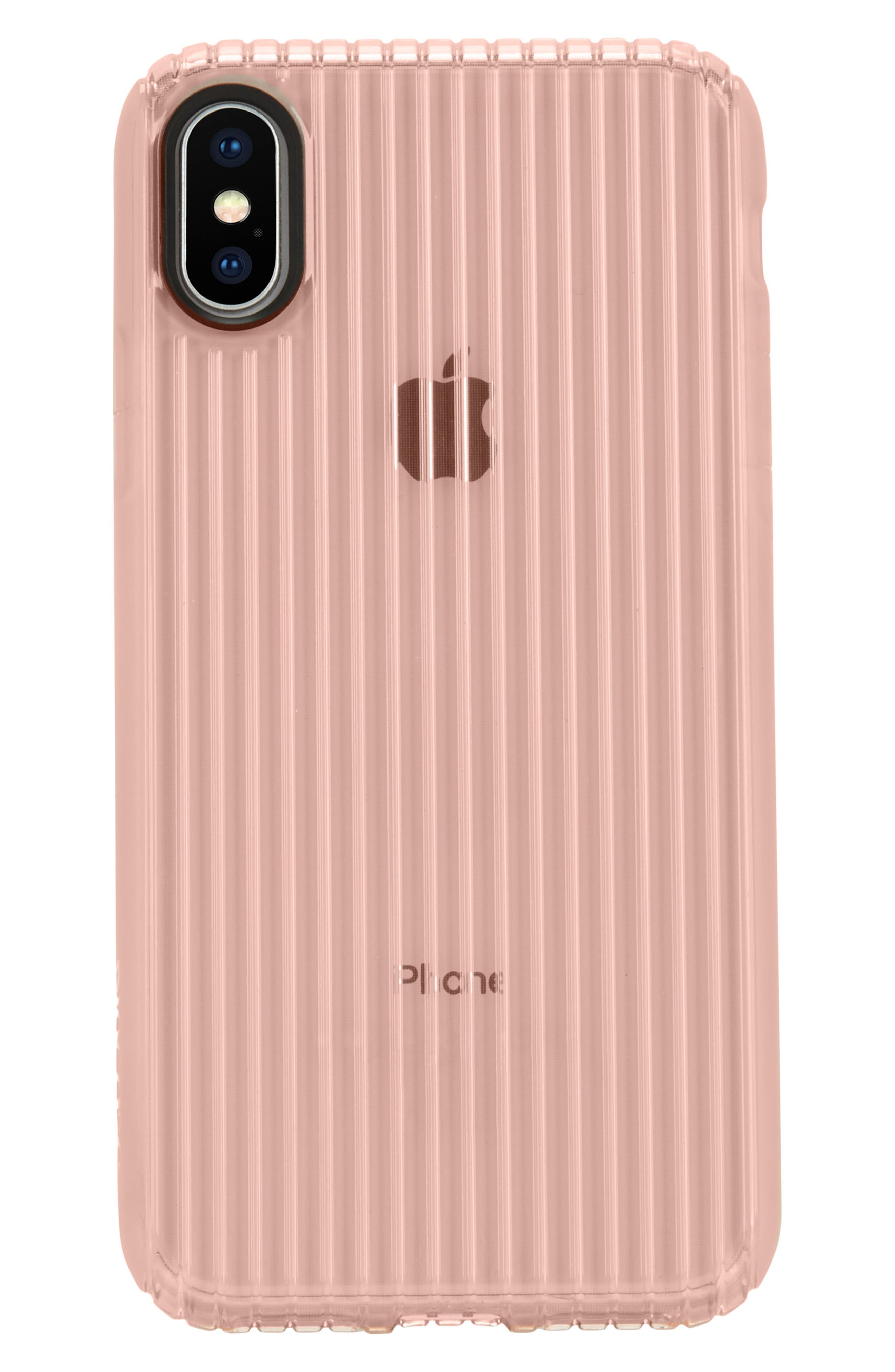 Protective iPhone X Case,                             Alternate thumbnail 2, color,                             Rose Gold