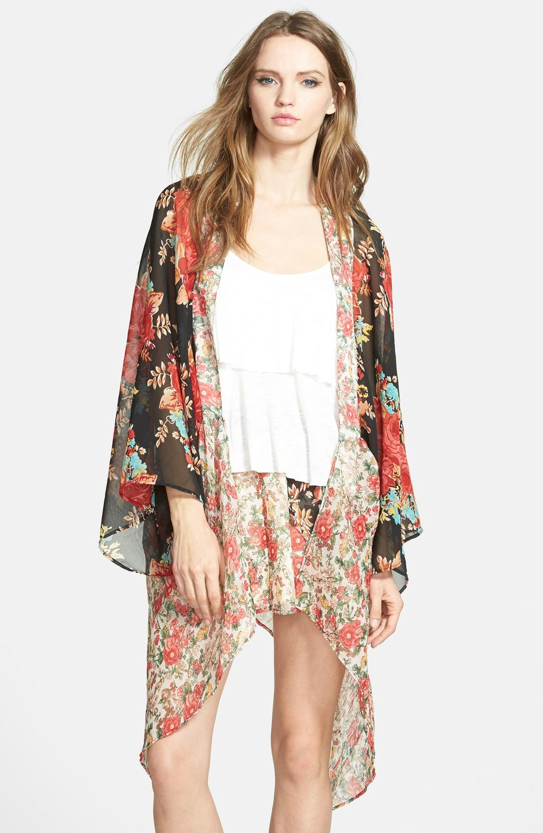 Main Image - Band of Gypsies Mix Print Kimono