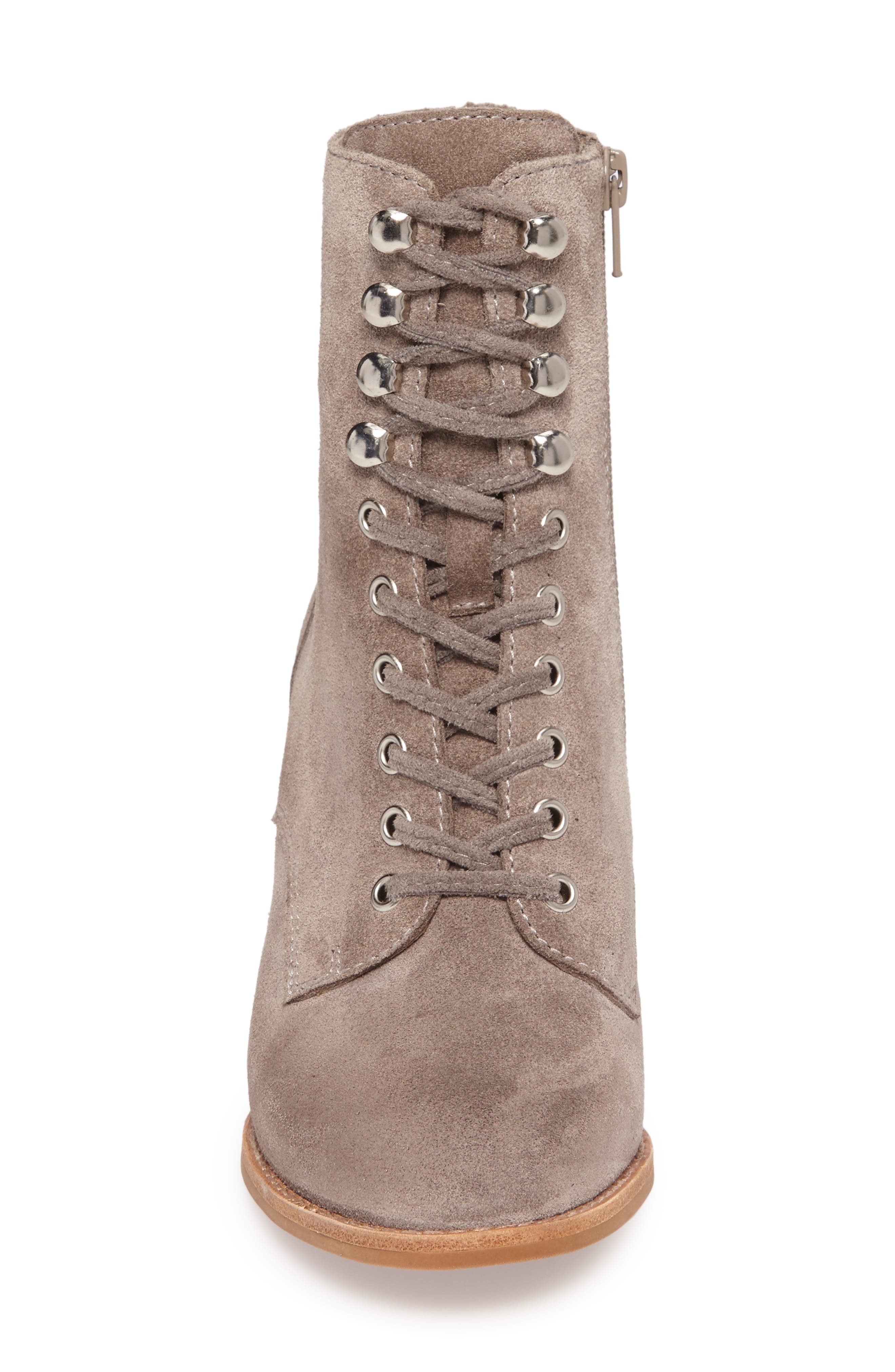 Elman Bootie,                             Alternate thumbnail 4, color,                             Taupe Suede