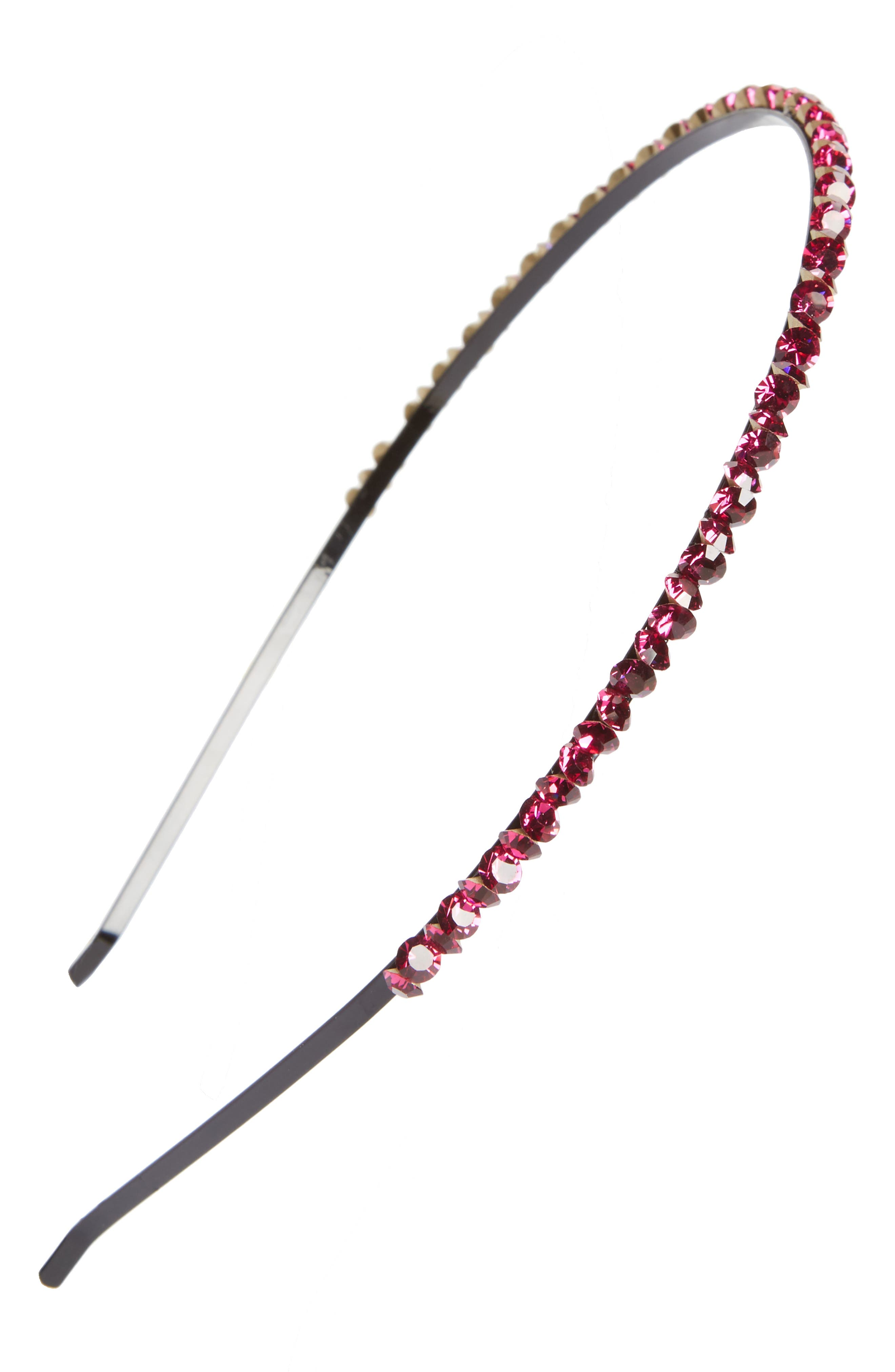 Sparkle Jem Skinny Headband,                         Main,                         color, Fucshia