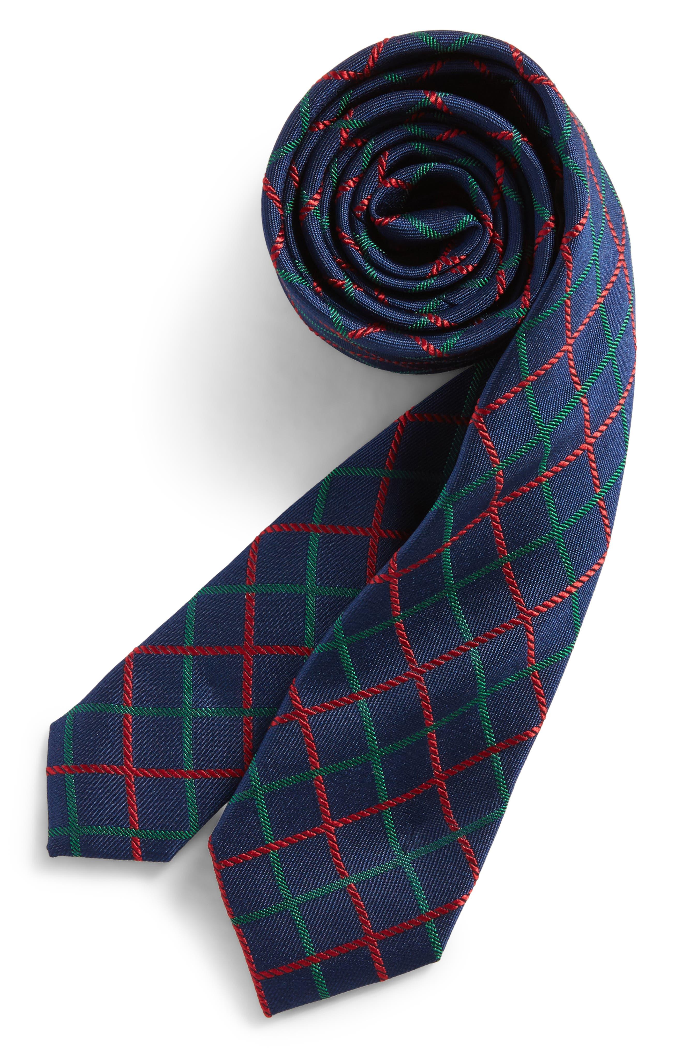 Nordstrom Check Silk Tie (Boys)