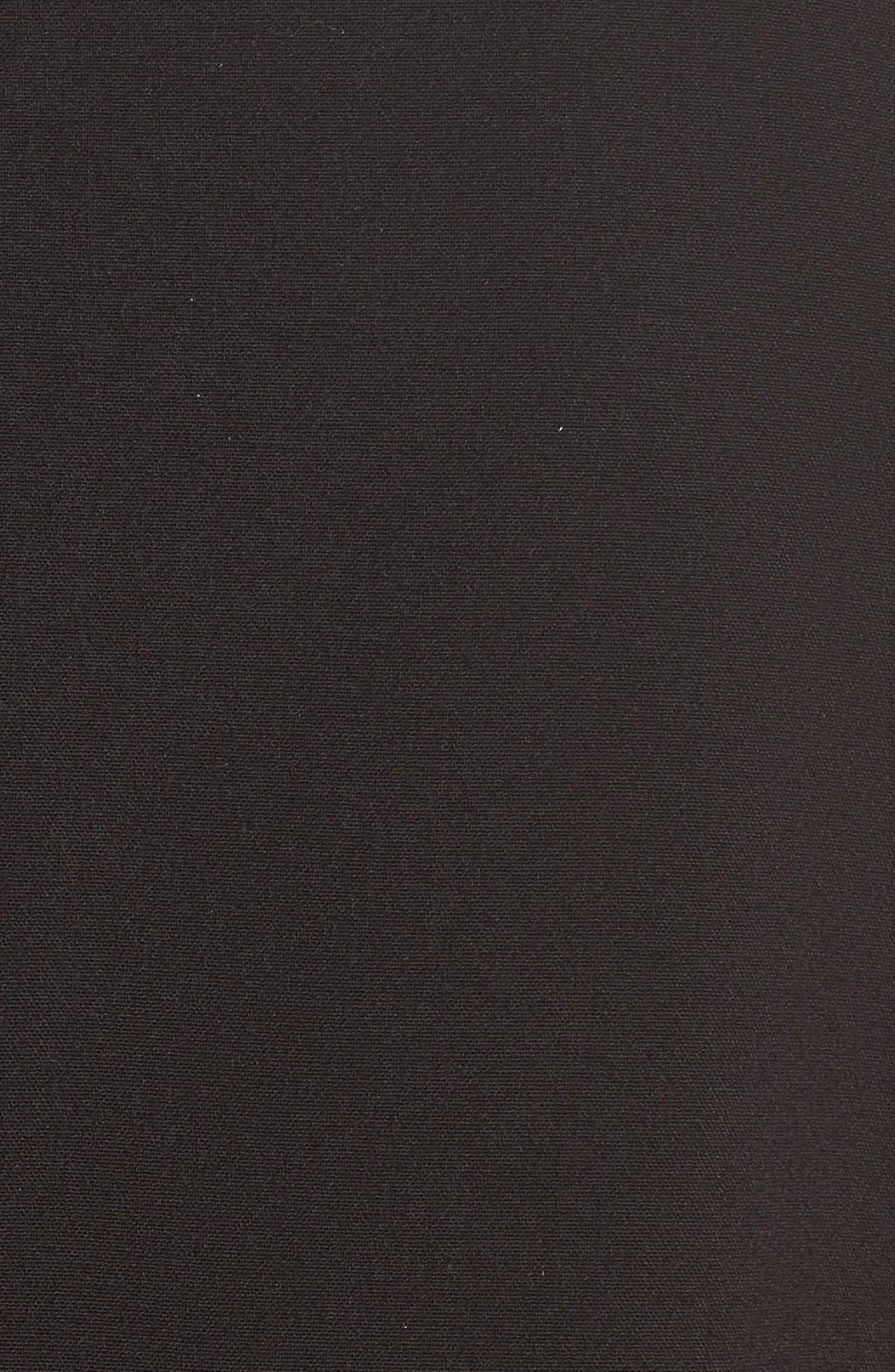 Bell Sleeve Crop Jacket,                             Alternate thumbnail 5, color,                             Black
