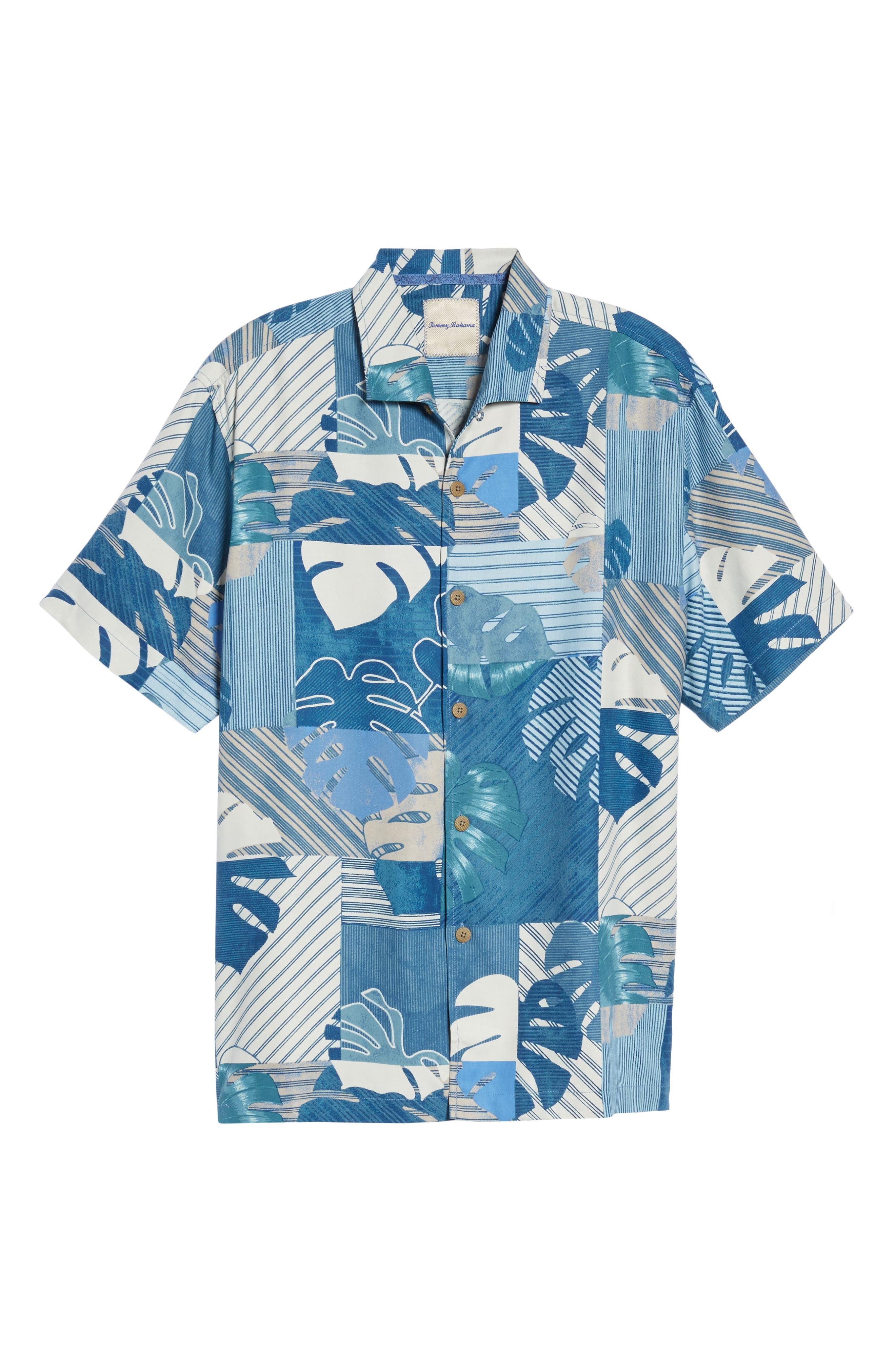 Alternate Image 6  - Tommy Bahama Totally Tiled Silk Camp Shirt