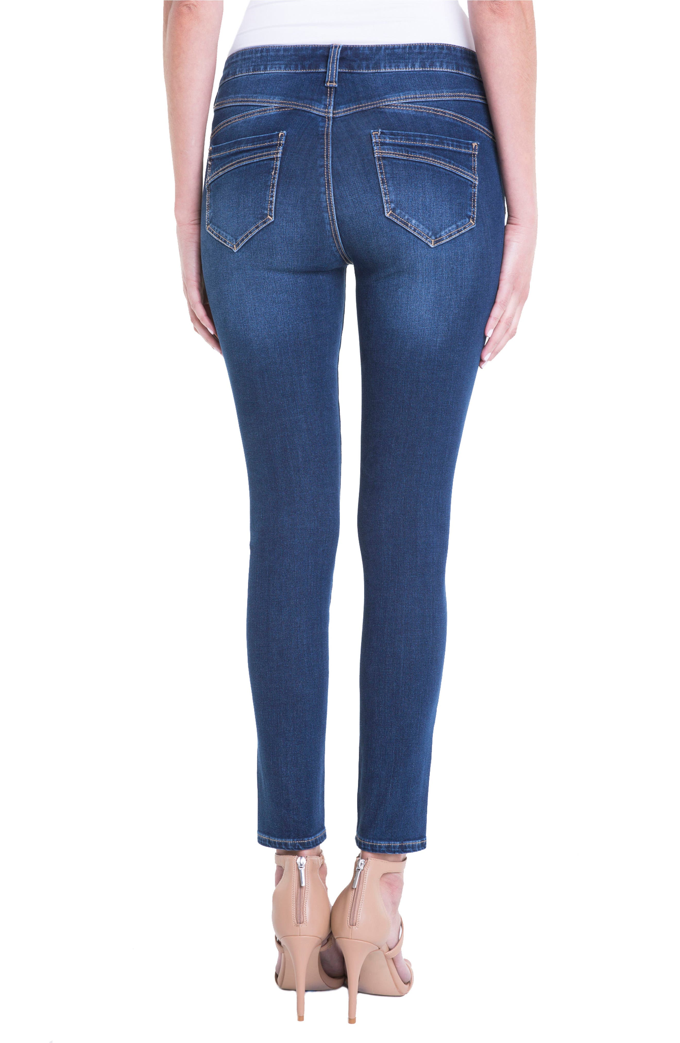 Jeans Company Piper Hugger Lift Sculpt Ankle Skinny Jeans,                             Alternate thumbnail 2, color,                             Lynx Wash
