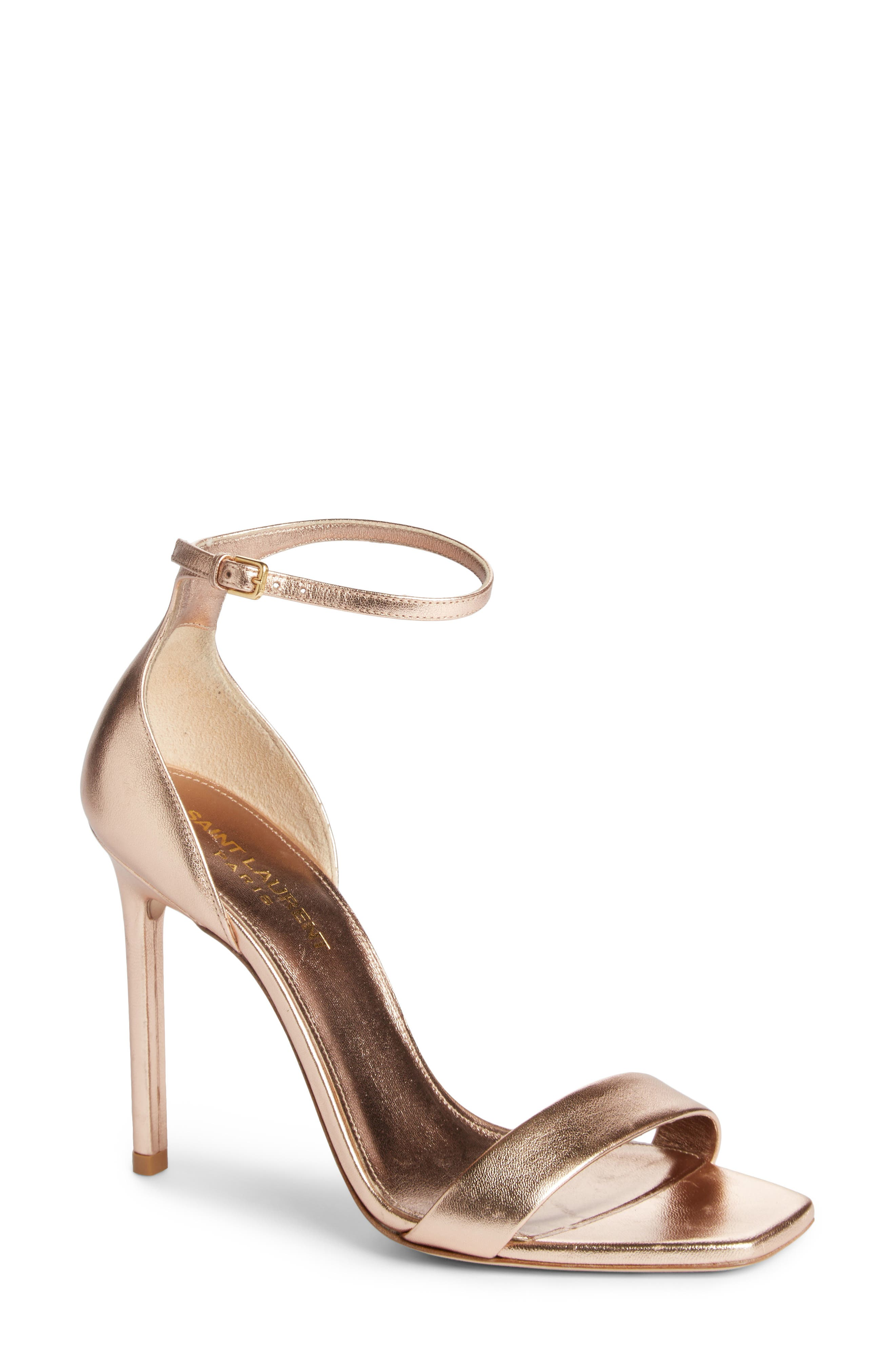 Saint Laurent Amber Ankle Strap Sandal (Women)