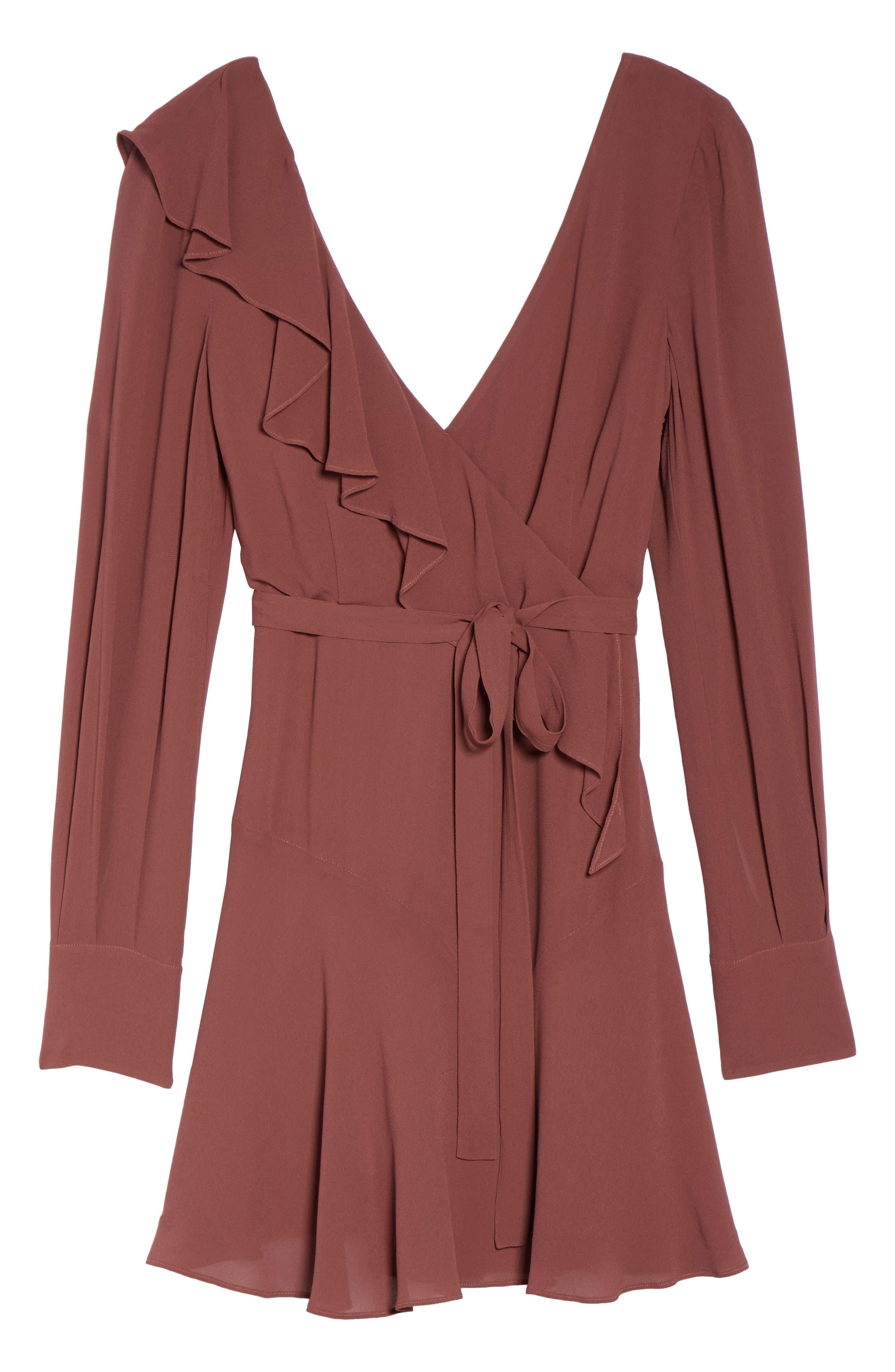 Rosie Ruffle Dress,                             Alternate thumbnail 6, color,                             Clay