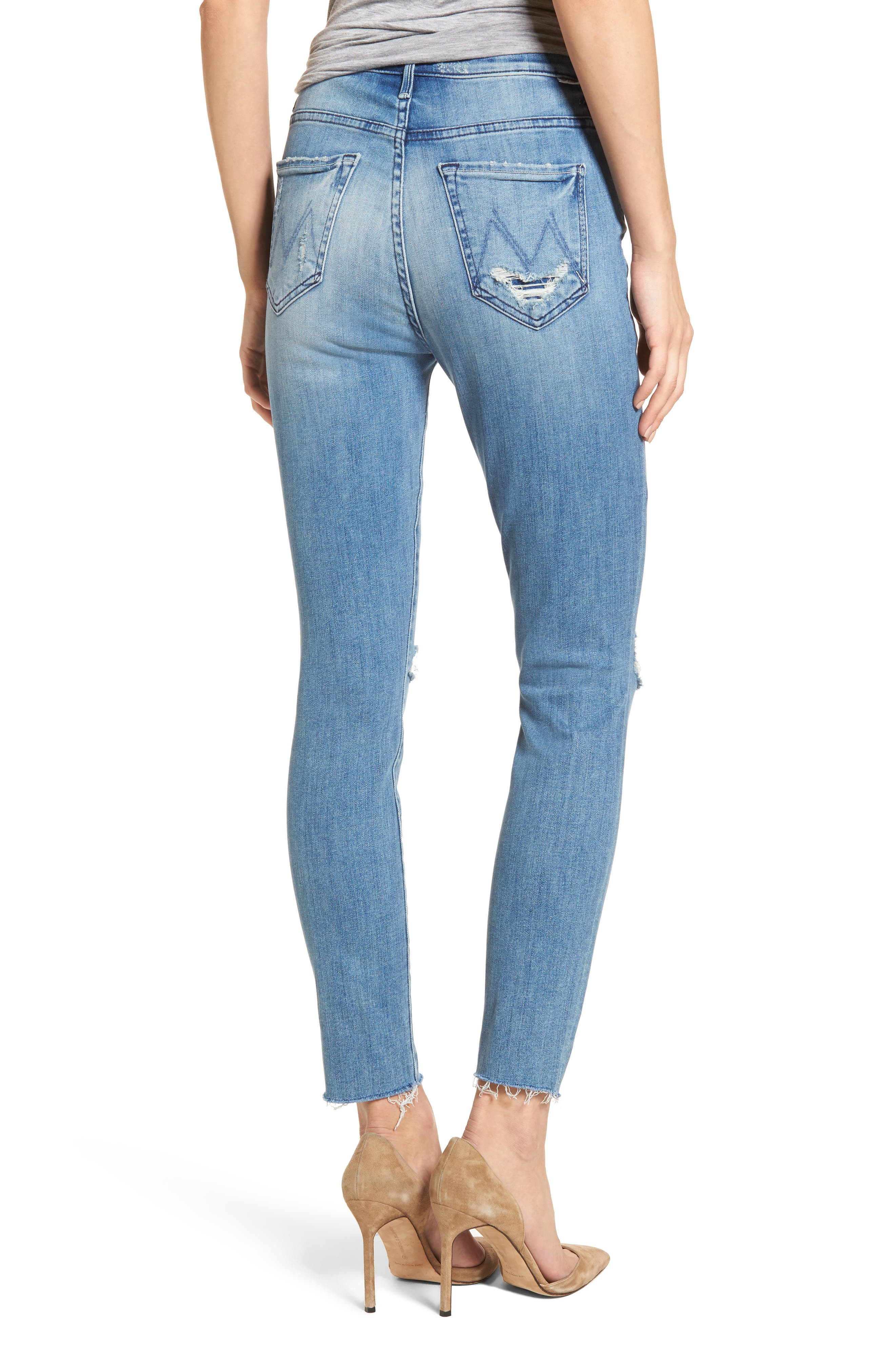 The Swooner High Waist Ankle Skinny Jeans,                             Alternate thumbnail 2, color,                             Losing Control