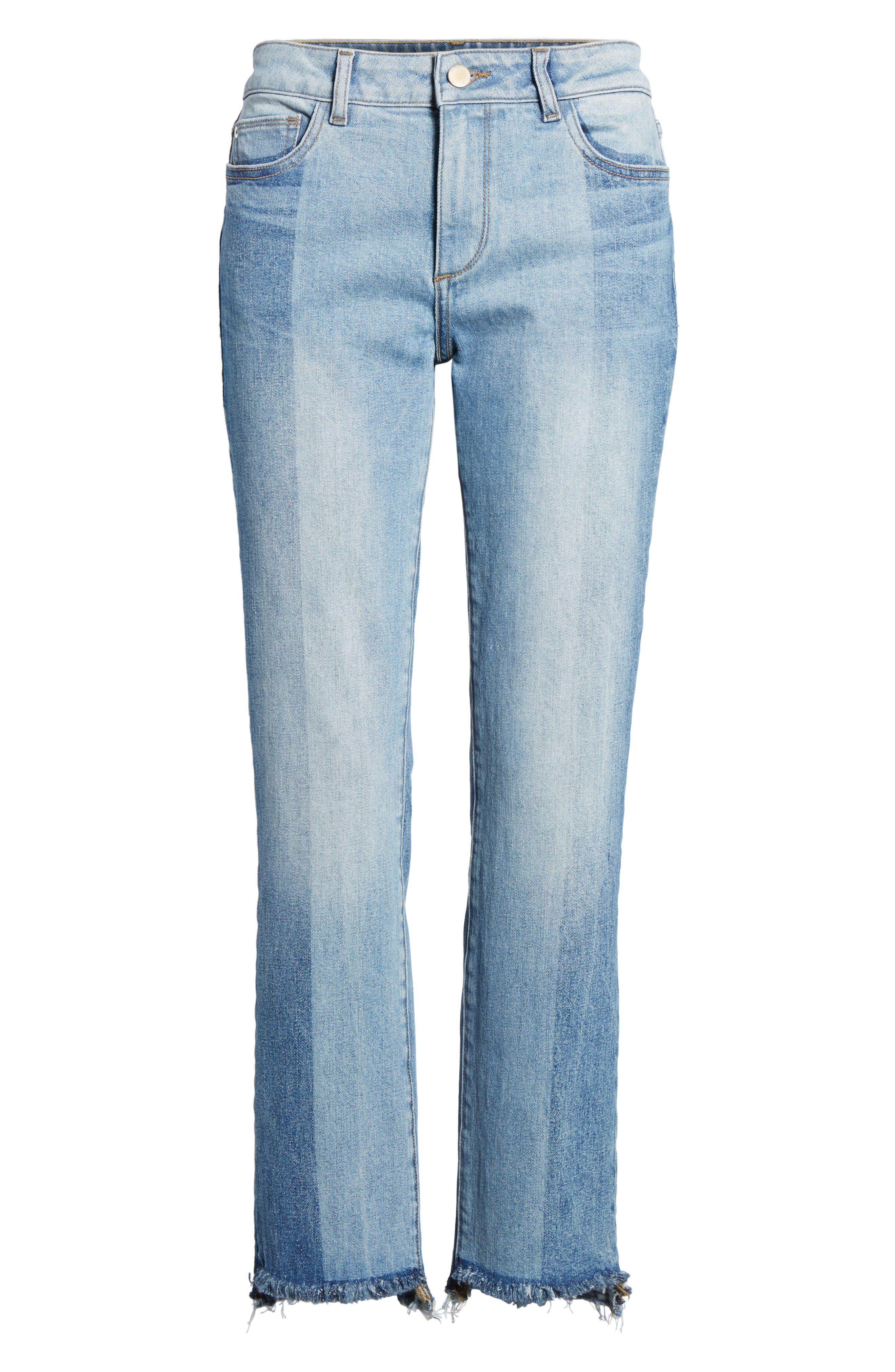 Mara Step Hem Ankle Jeans,                             Alternate thumbnail 7, color,                             Brookside