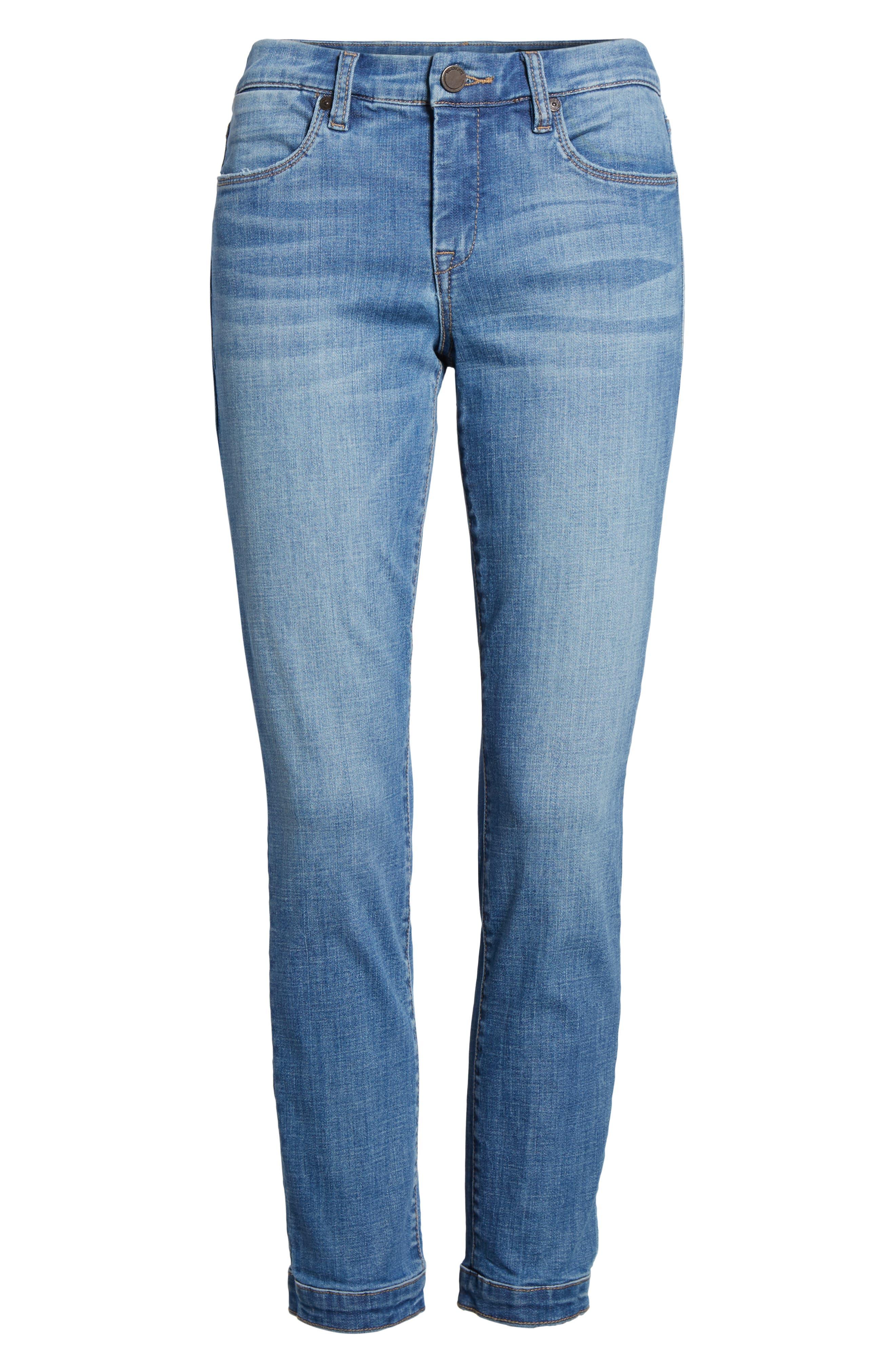 Alternate Image 6  - BLANKNYC Happy Place Tie Hem Skinny Jeans