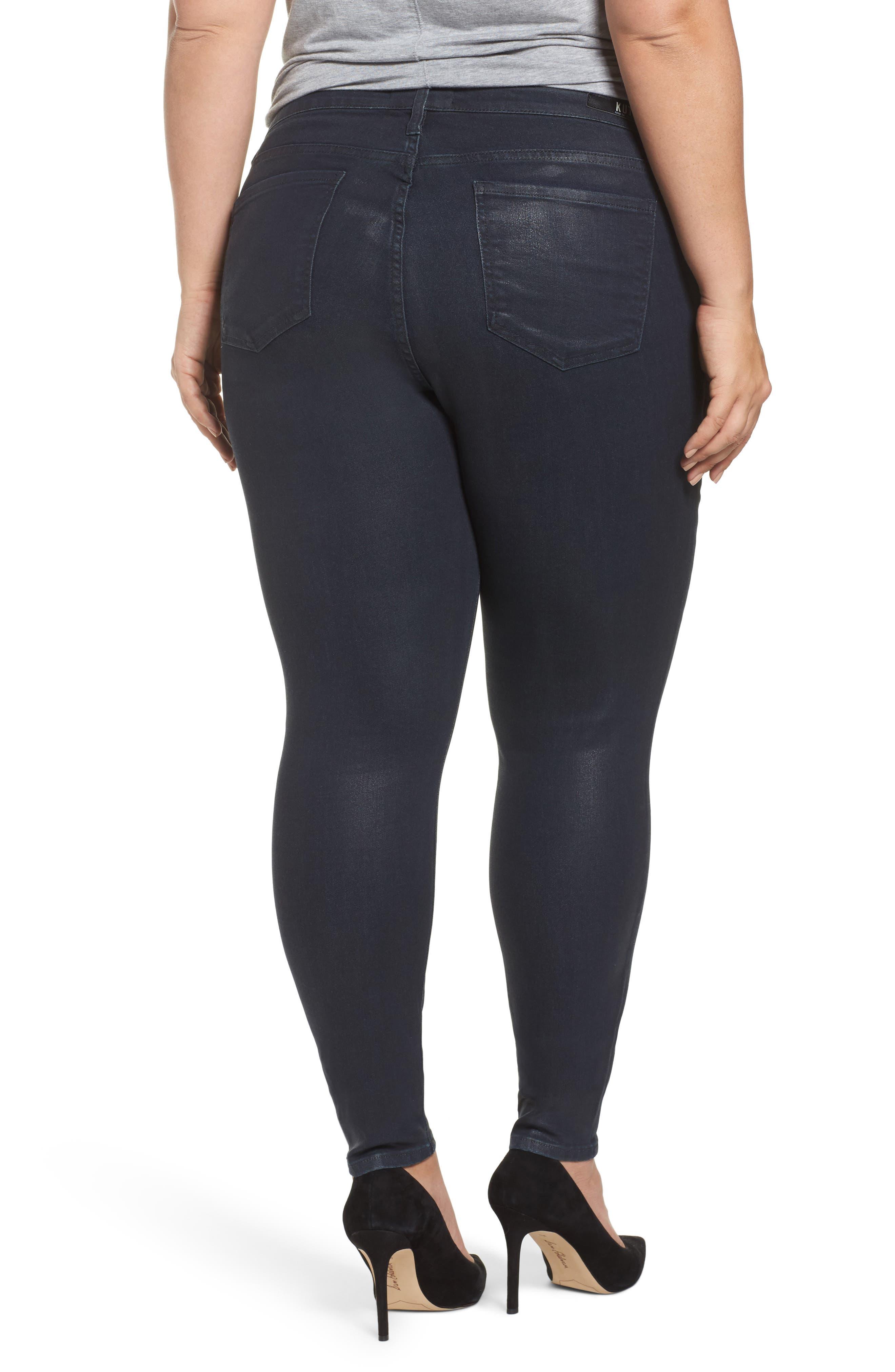 Mia Toothpick Jeans,                             Alternate thumbnail 2, color,                             Navy