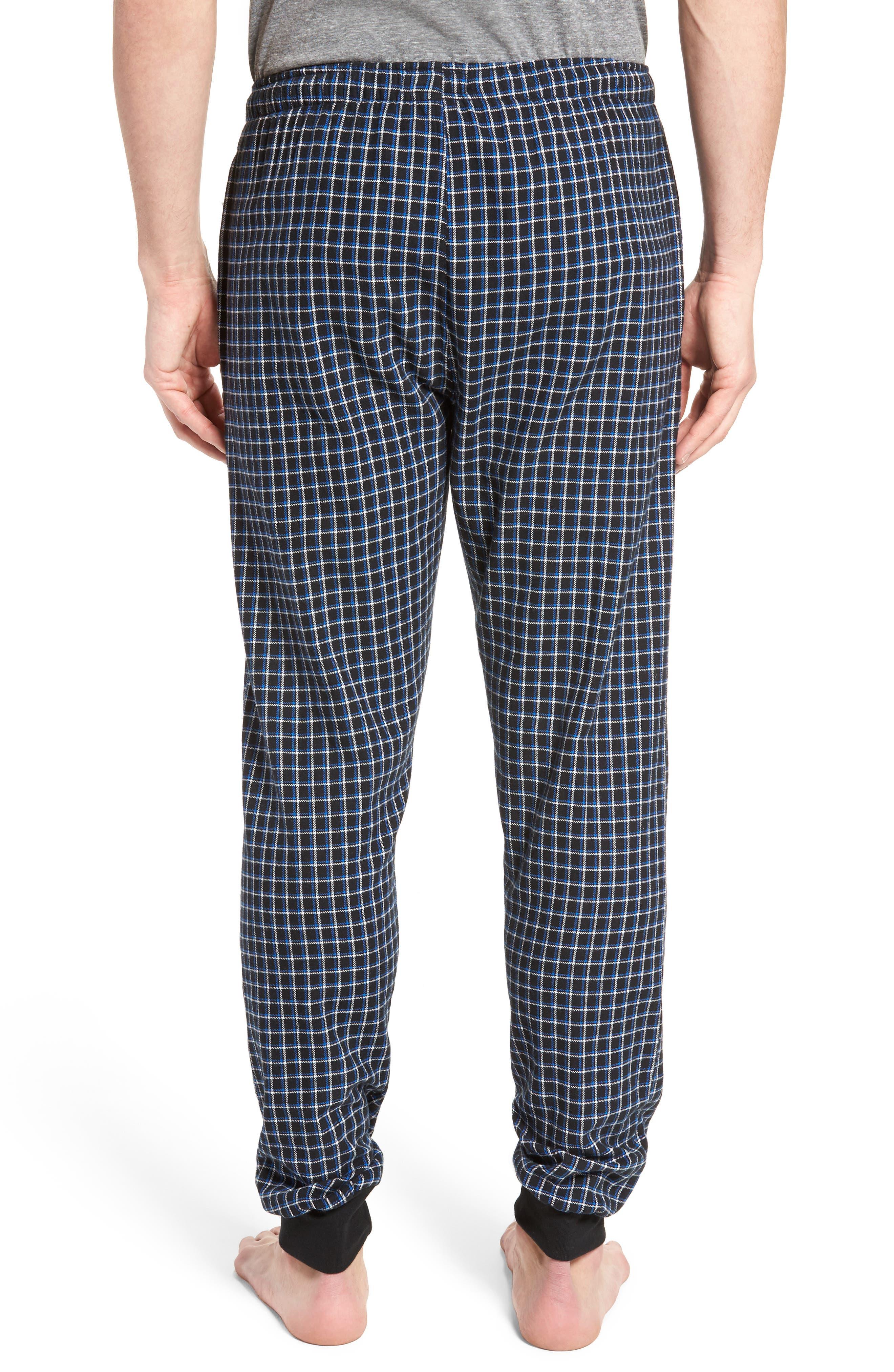 Flannel Pajama Jogger Pants,                             Alternate thumbnail 2, color,                             Logan Plaid/ Crescent Cream