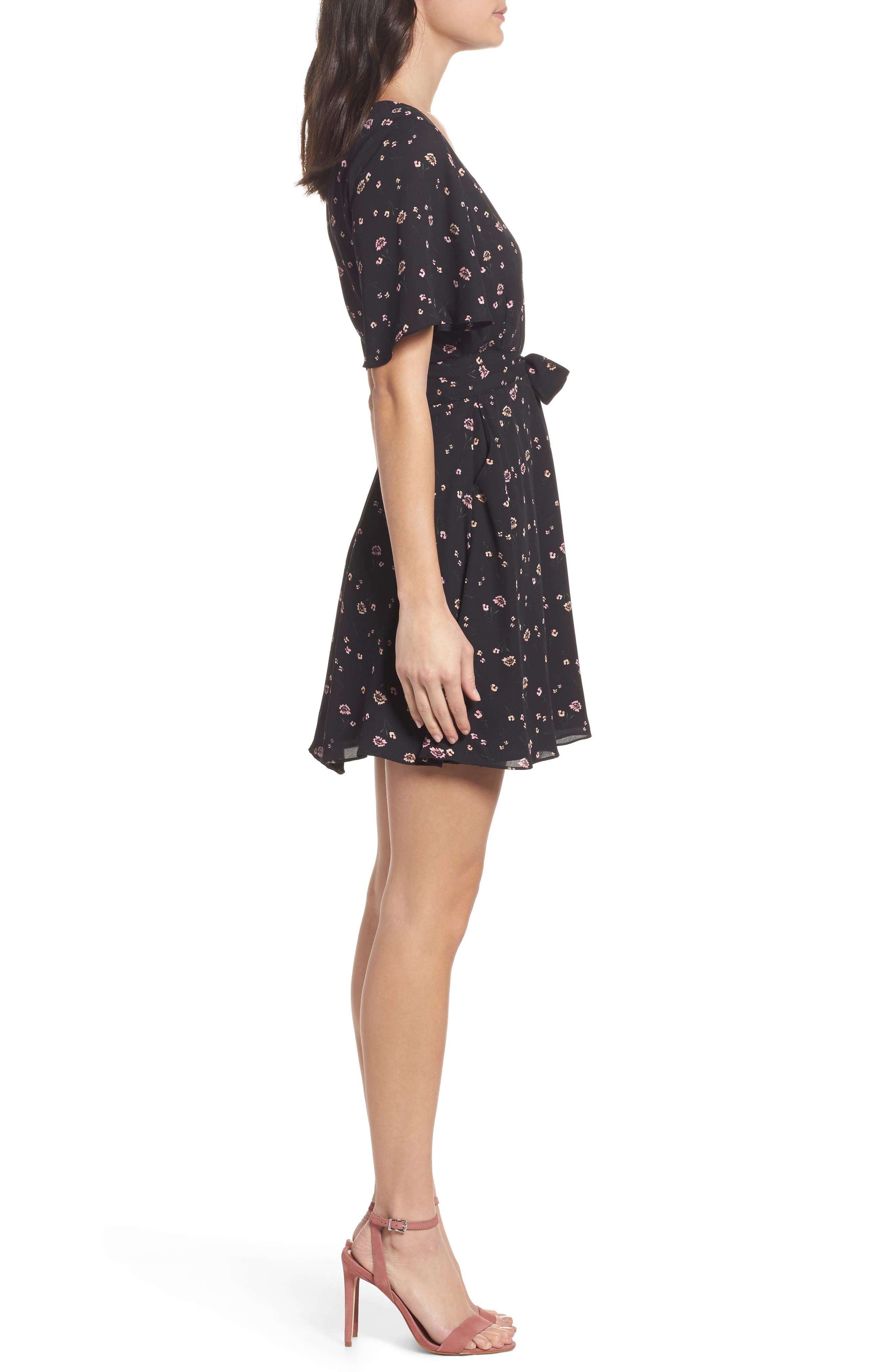 Lettie Dress,                             Alternate thumbnail 3, color,                             Black