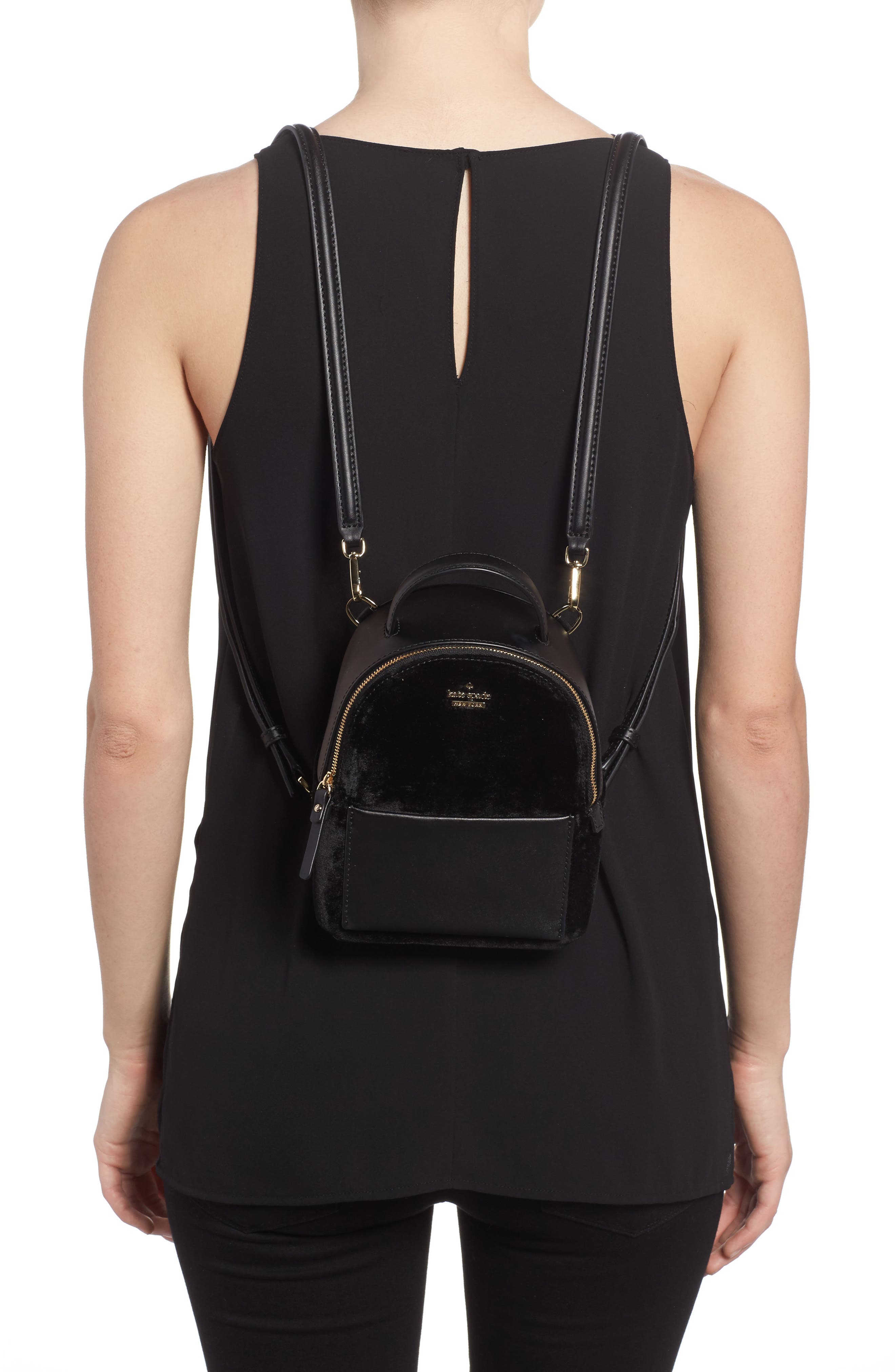 Alternate Image 2  - kate spade new york watson lane velvet merry convertible backpack