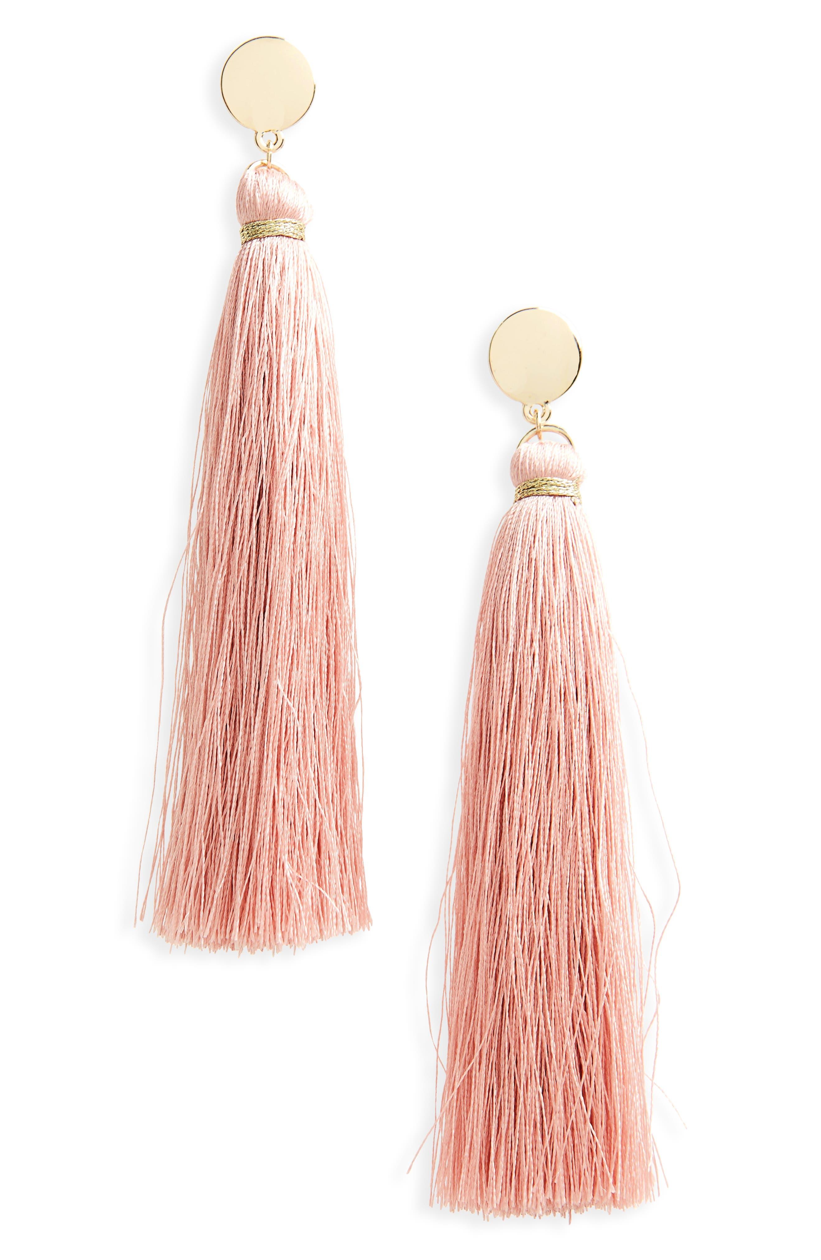Topshop Disc Tassel Earrings