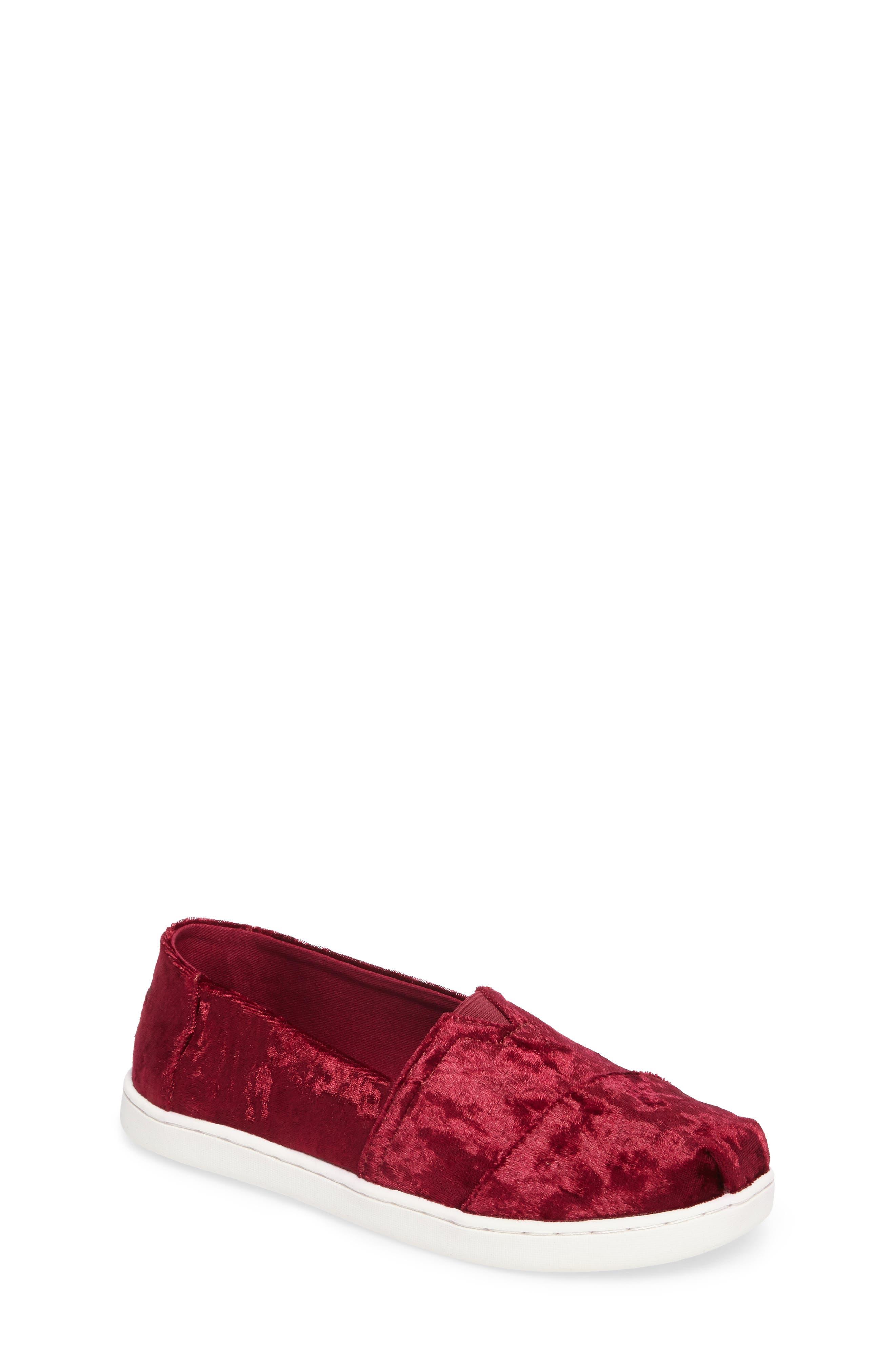 Classic Alpargata Slip-On,                         Main,                         color, Black Cherry Velvet