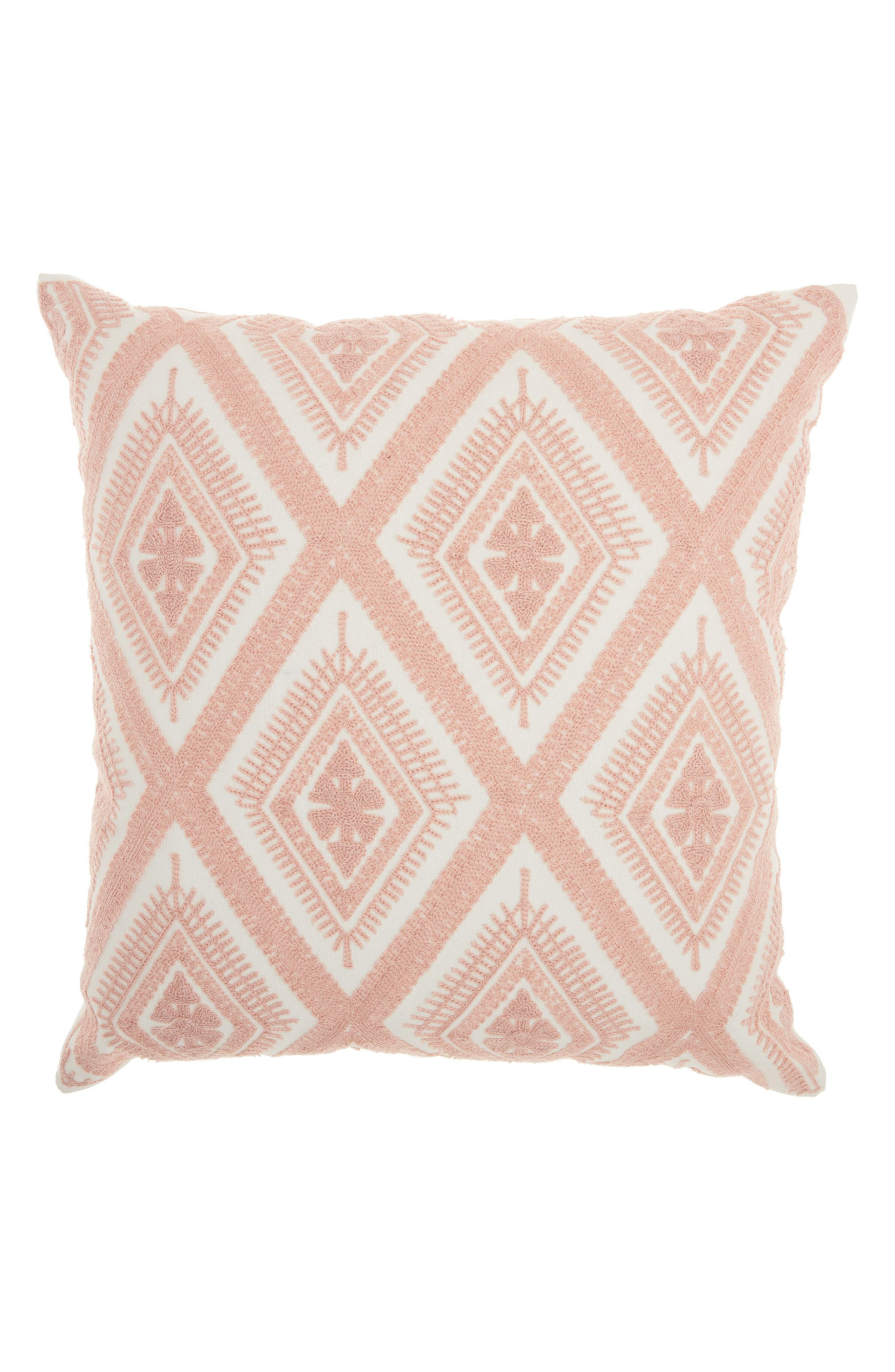 Mina Victory Diamond Embroidered Accent Pillow
