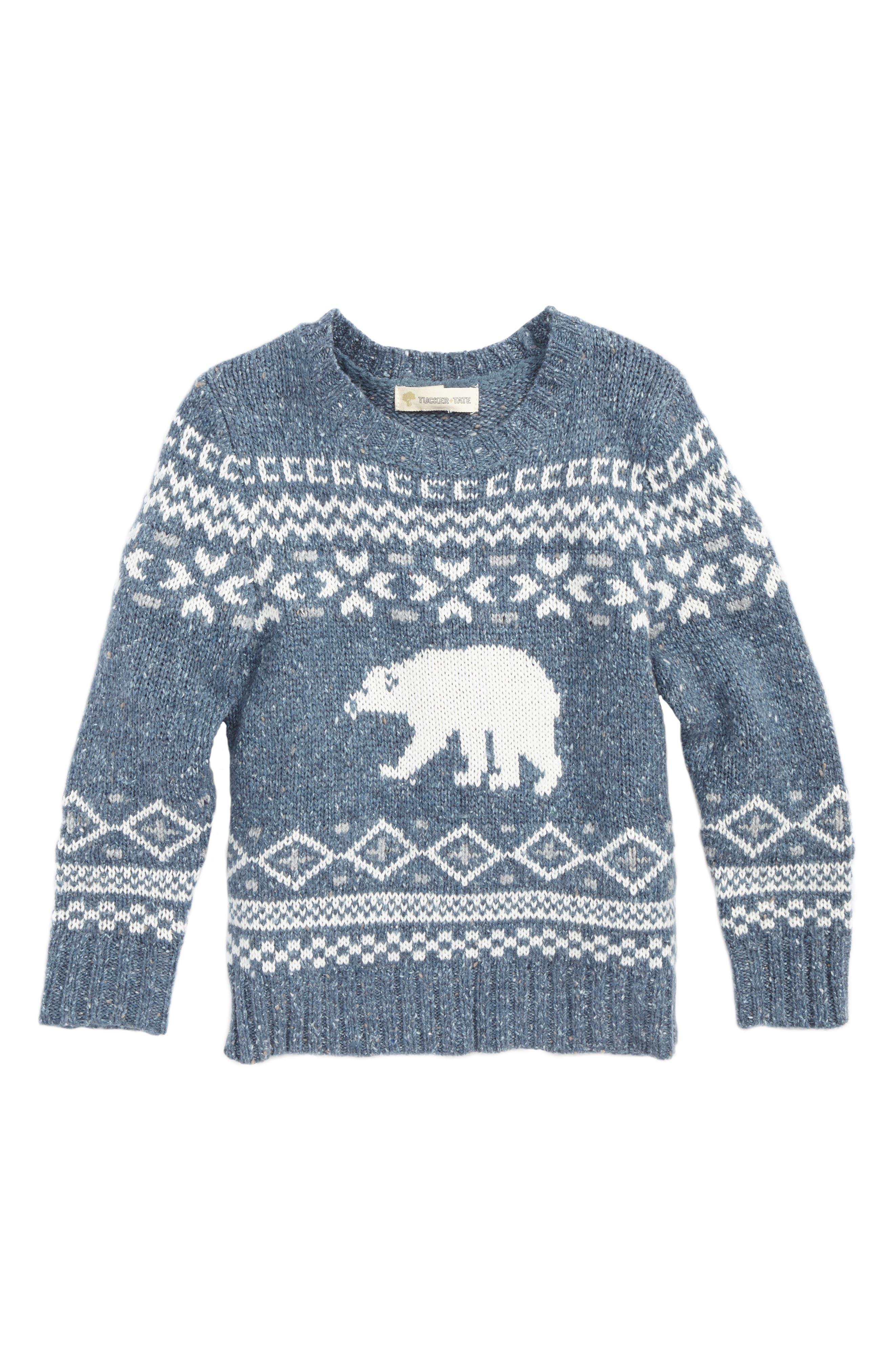 Tucker   Tate Polar Bear Fair Isle Sweater (Toddler Boys & Little ...