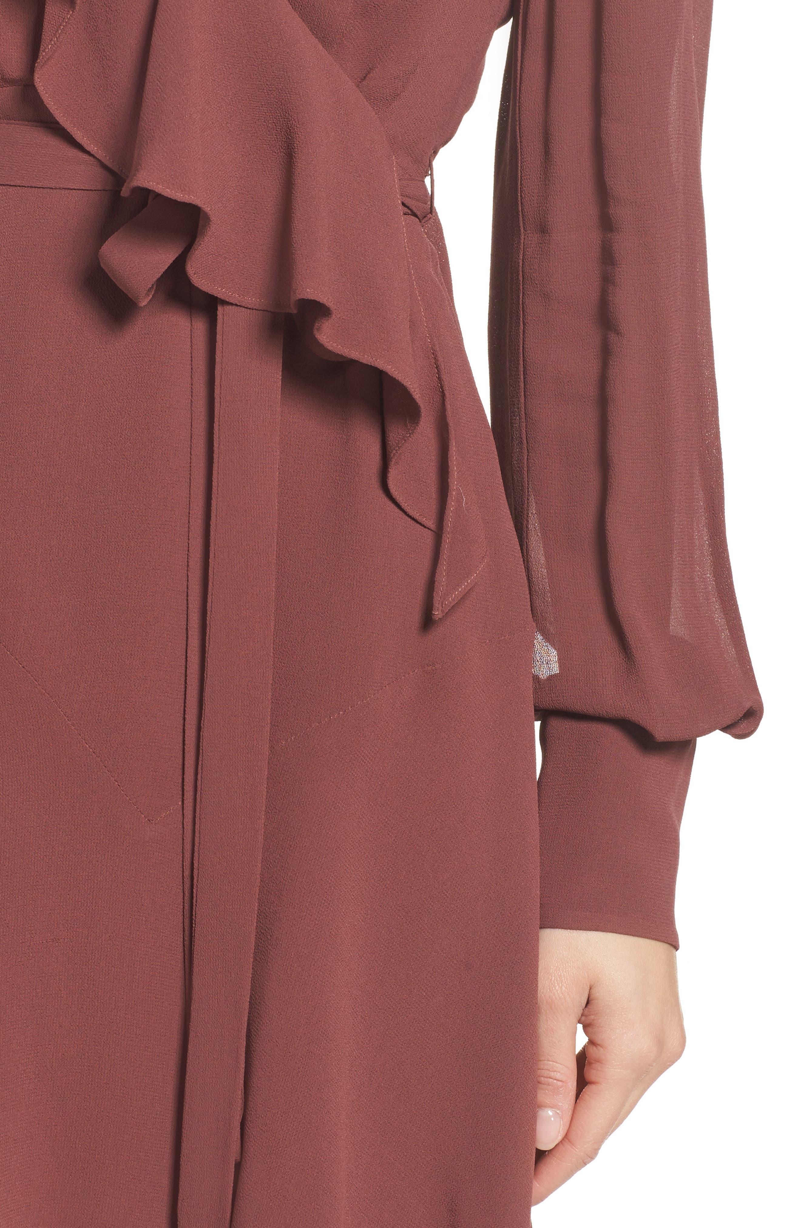 Rosie Ruffle Dress,                             Alternate thumbnail 4, color,                             Clay