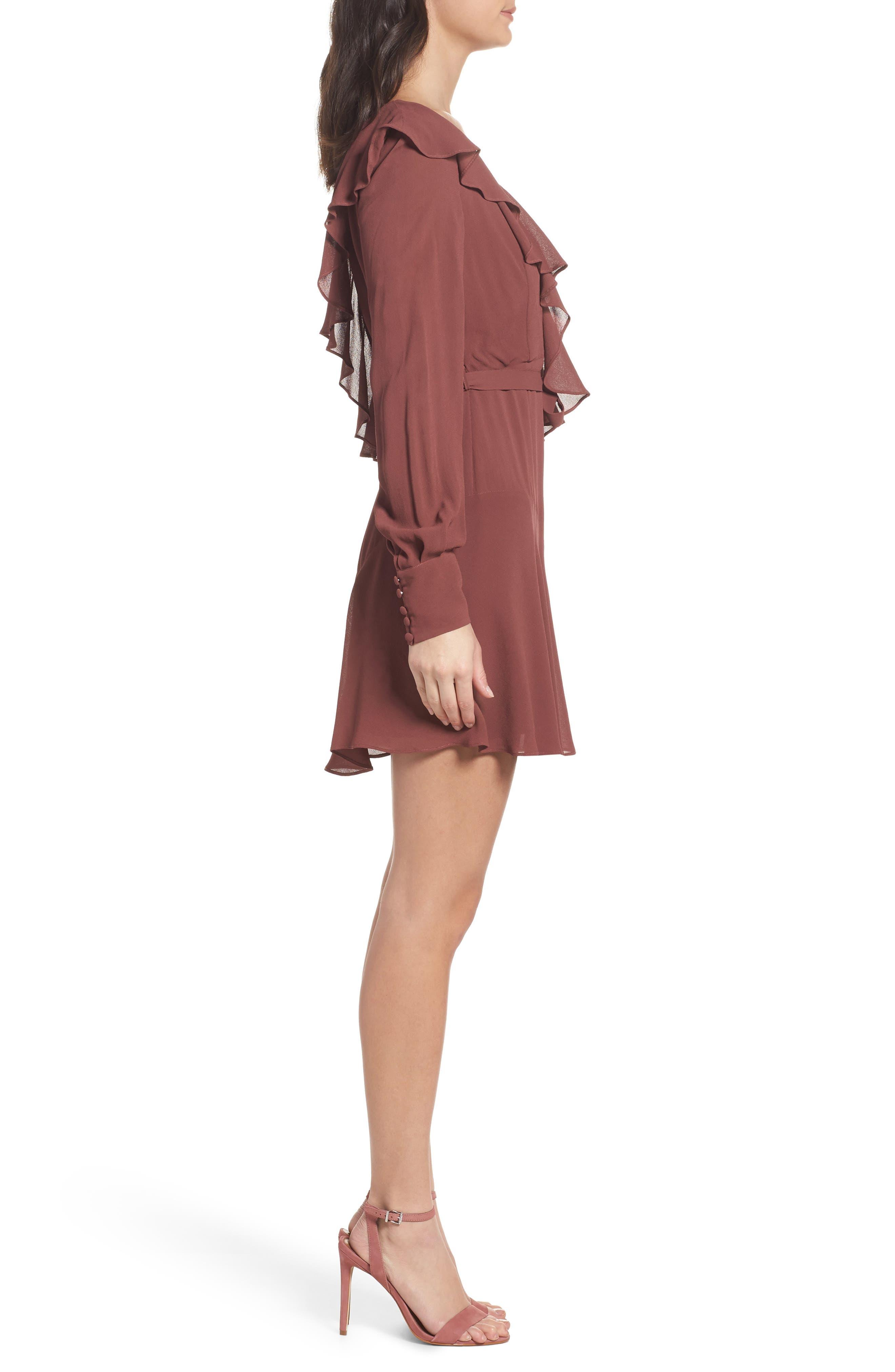 Rosie Ruffle Dress,                             Alternate thumbnail 3, color,                             Clay