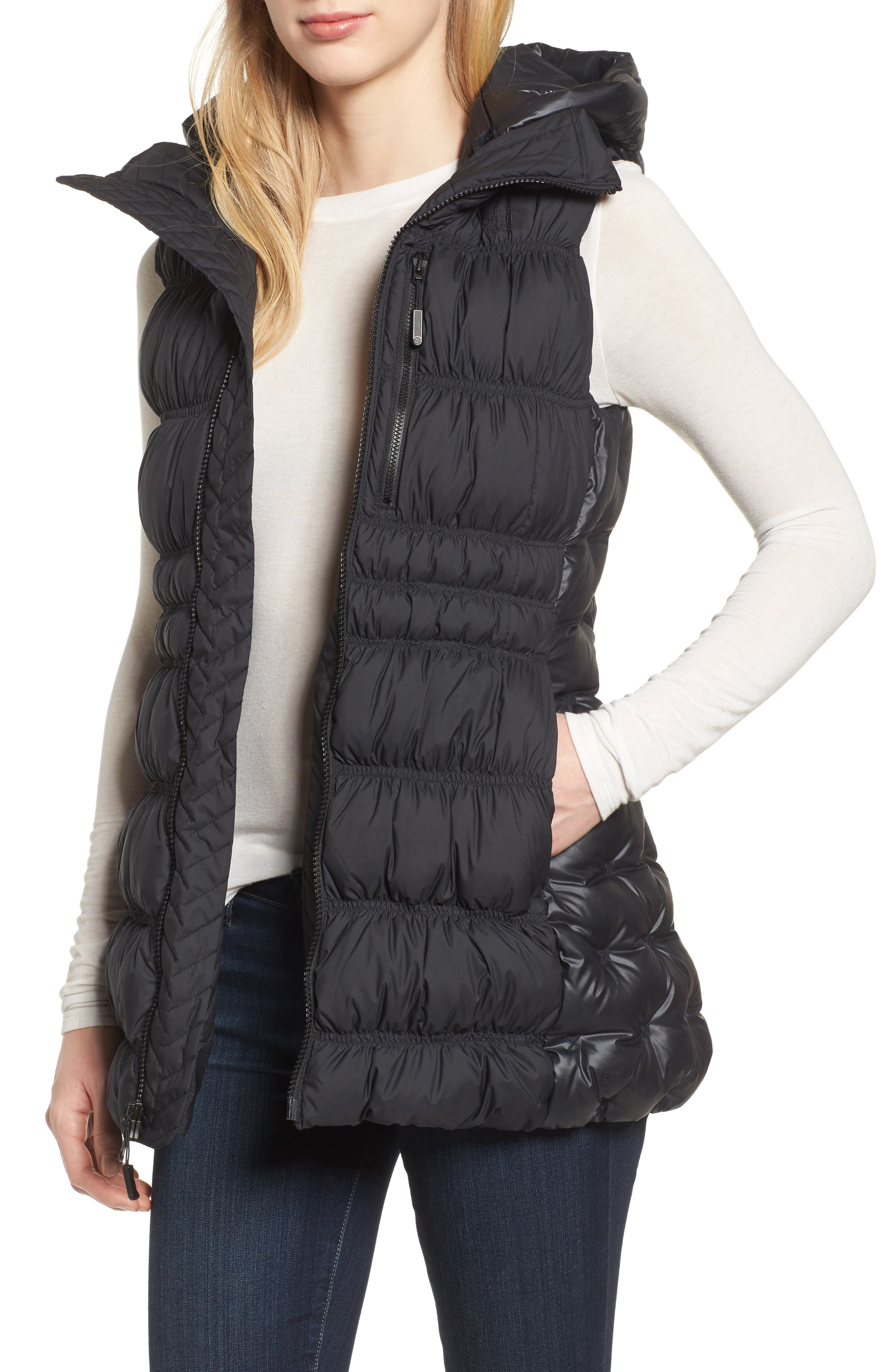 Cryos 800-Fill-Power Down Vest,                         Main,                         color, Black