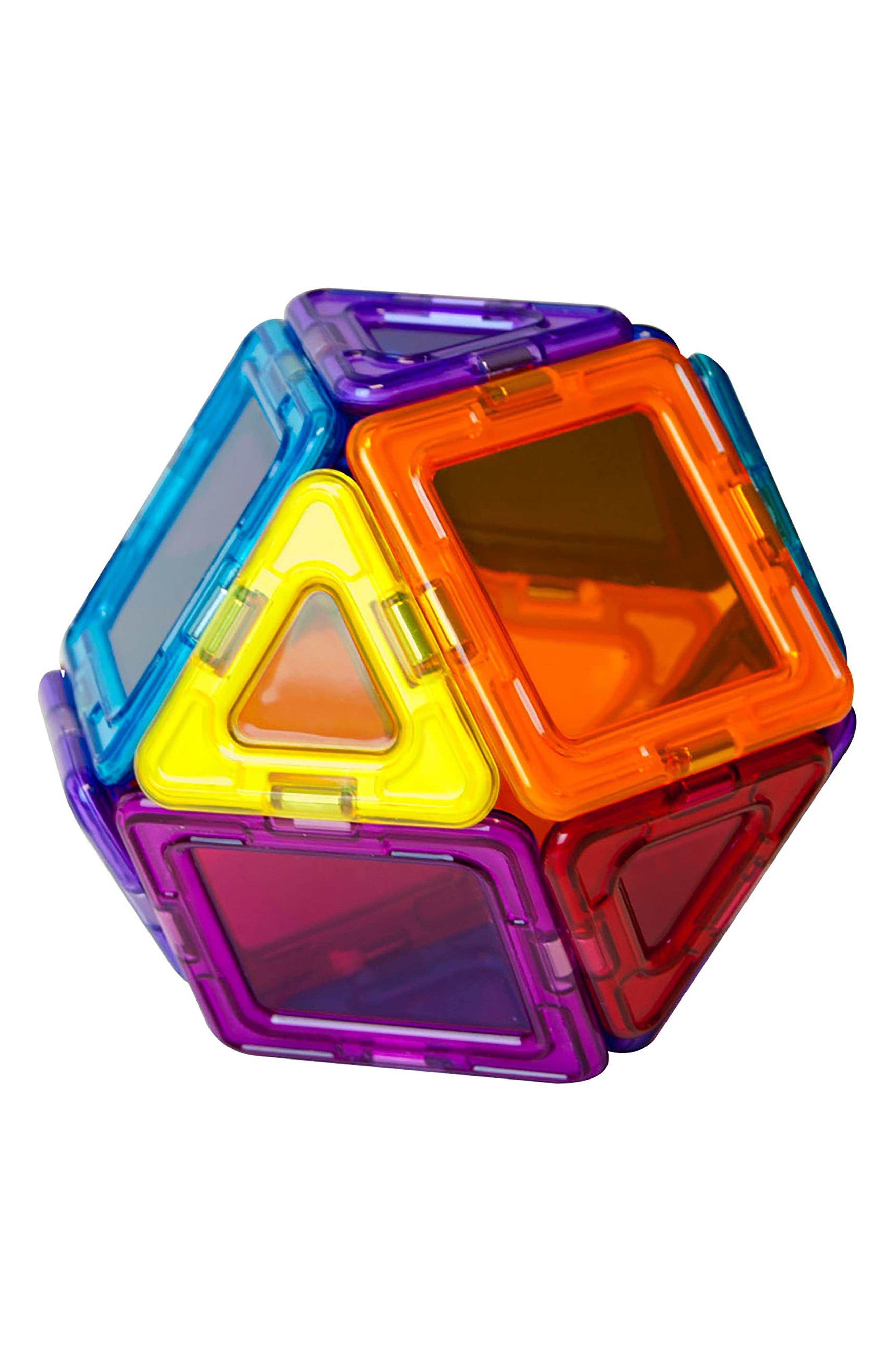 14-Piece Rainbow Clear Solid Magnetic 3D Construction Set,                             Alternate thumbnail 4, color,                             Multi