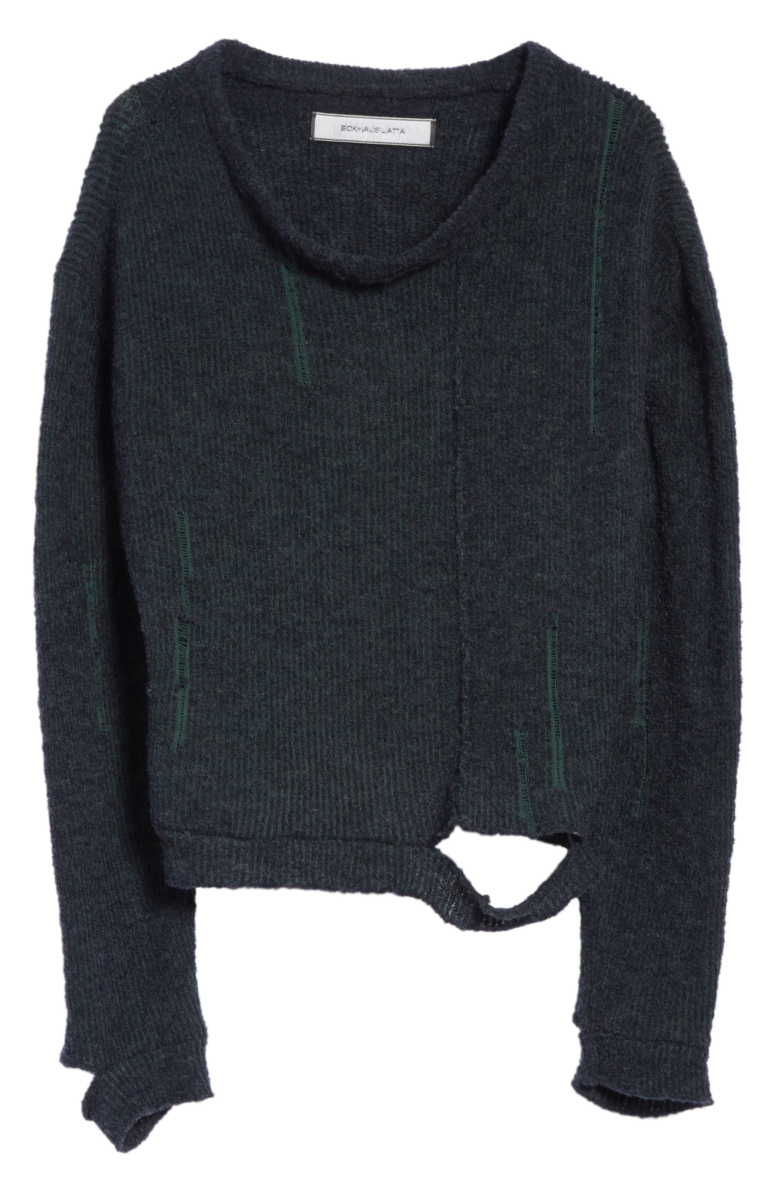 Wiggly Road Sweater,                             Alternate thumbnail 6, color,                             Navy