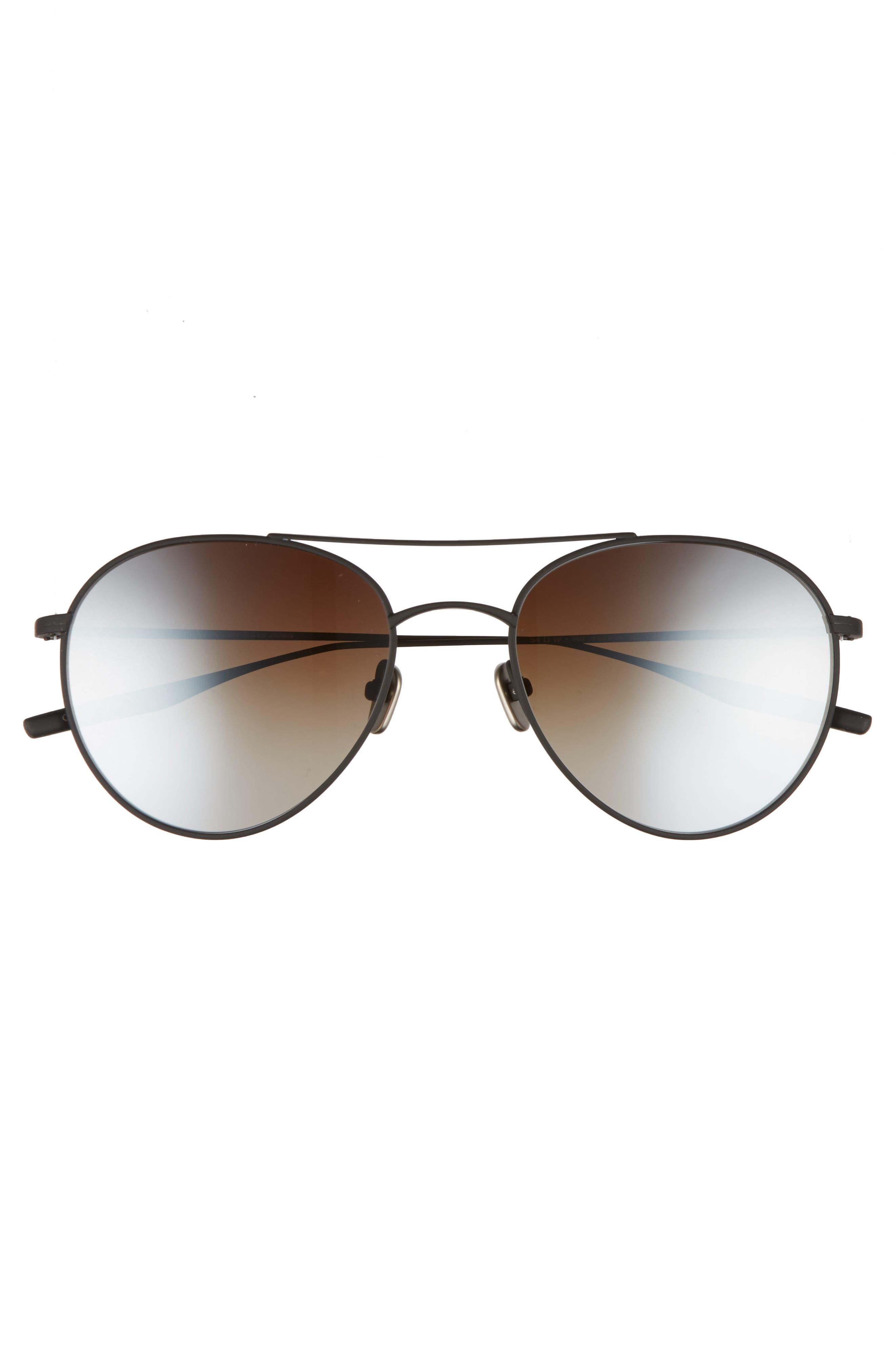 Fufkin 54mm Polarized Round Sunglasses,                             Alternate thumbnail 3, color,                             Black Sand
