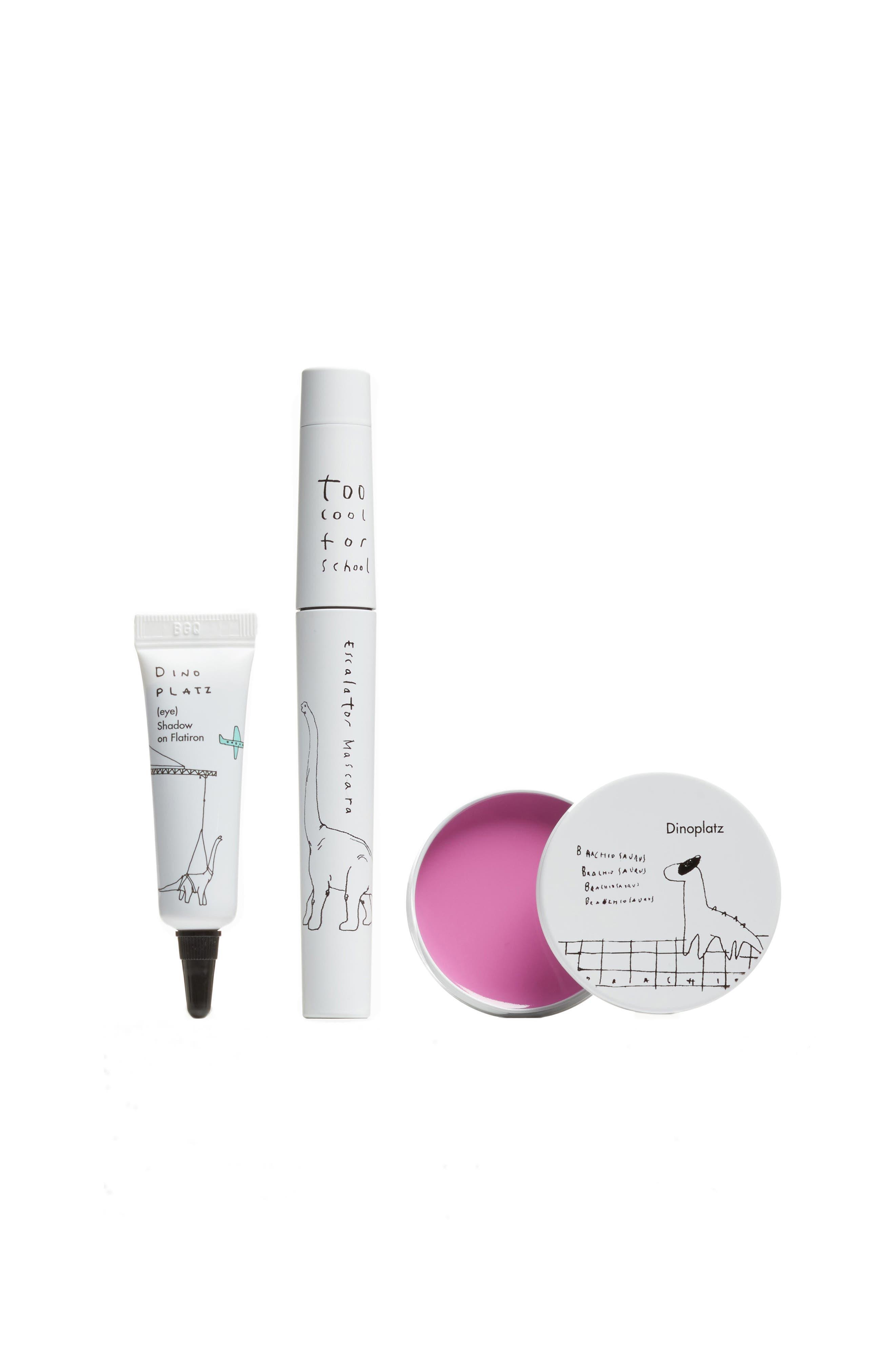 Too Cool for School Dinoplatz Makeup Essential Eye Shadow, Mascara & Lip Balm Set