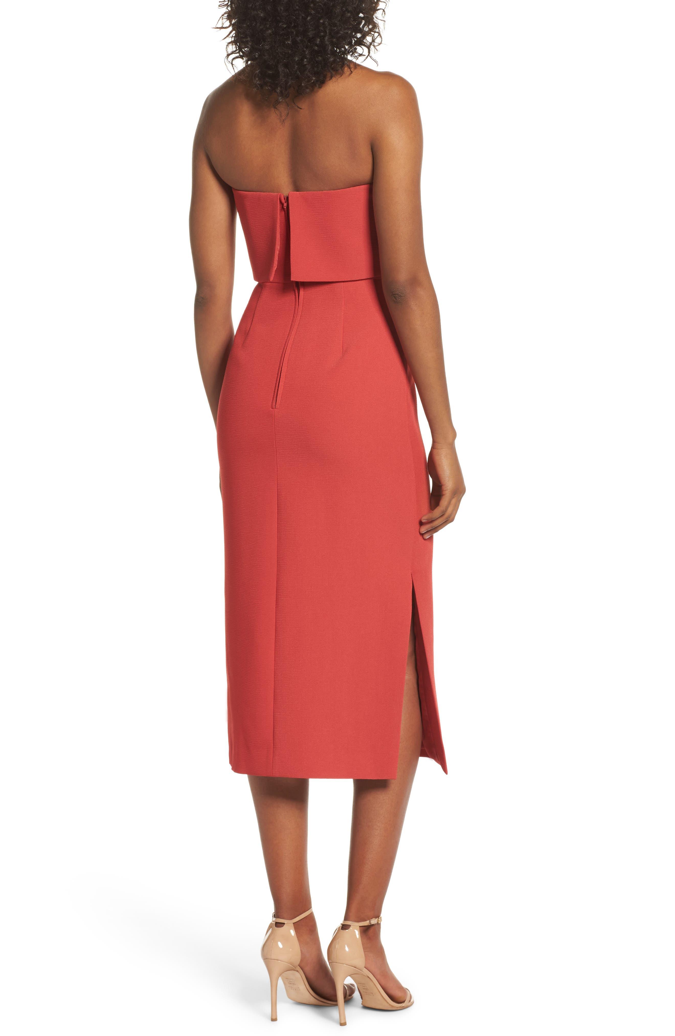 Infinite Strapless Dress,                             Alternate thumbnail 2, color,                             Rust