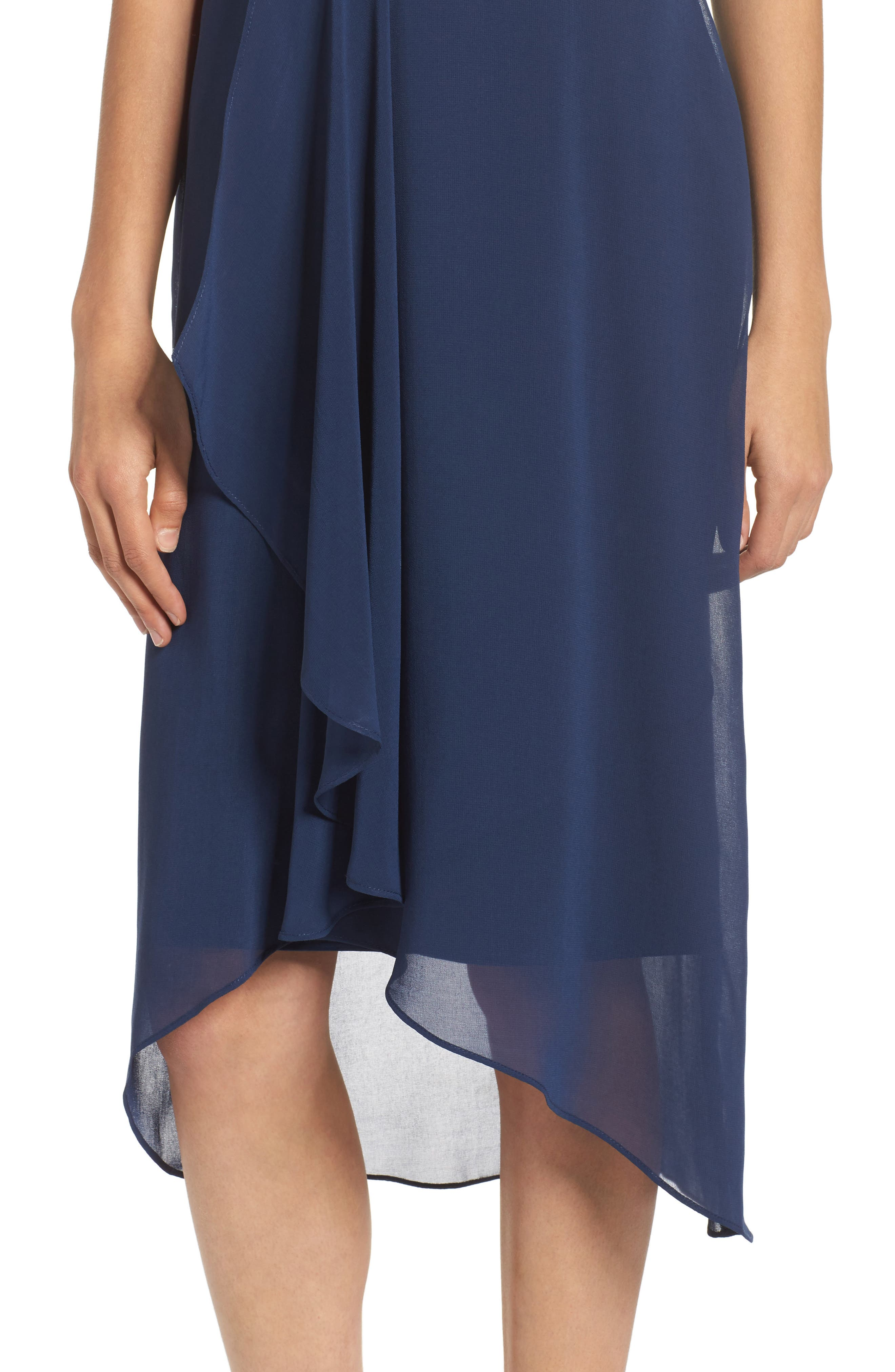 Utopia Midi Dress,                             Alternate thumbnail 4, color,                             Ink