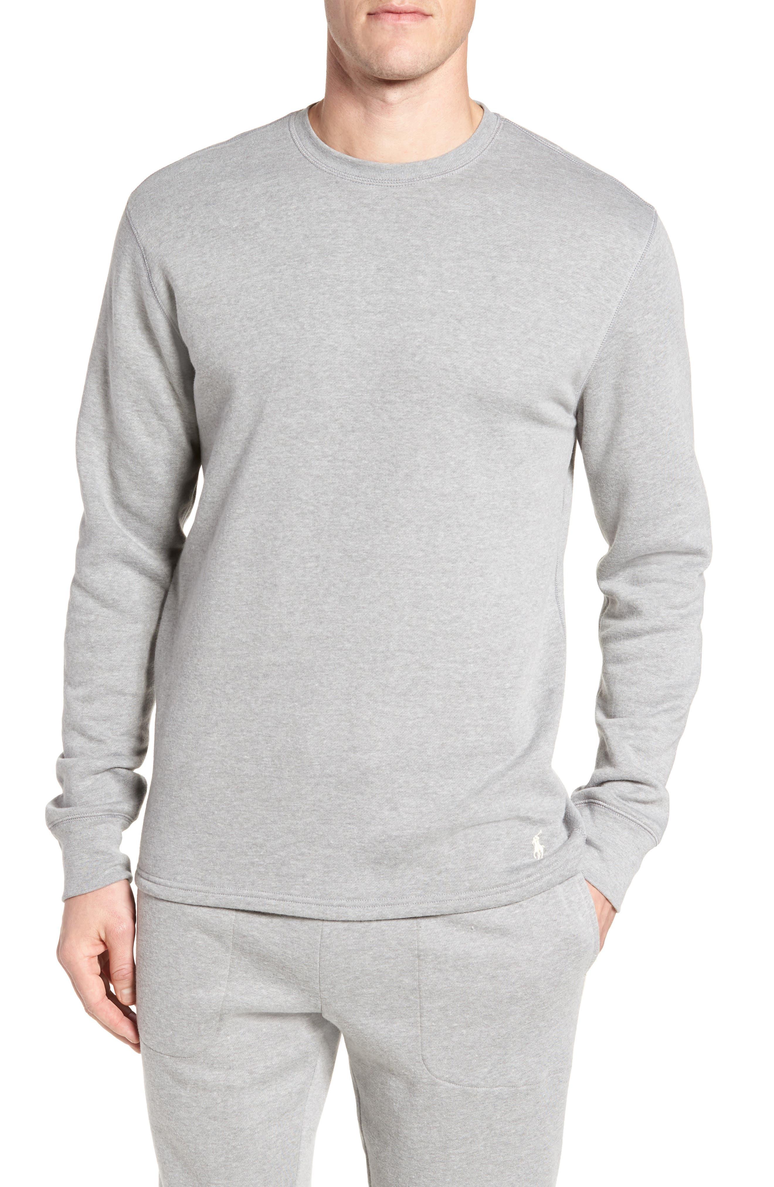 Polo Ralph Lauren Brushed Fleece Pajama Top