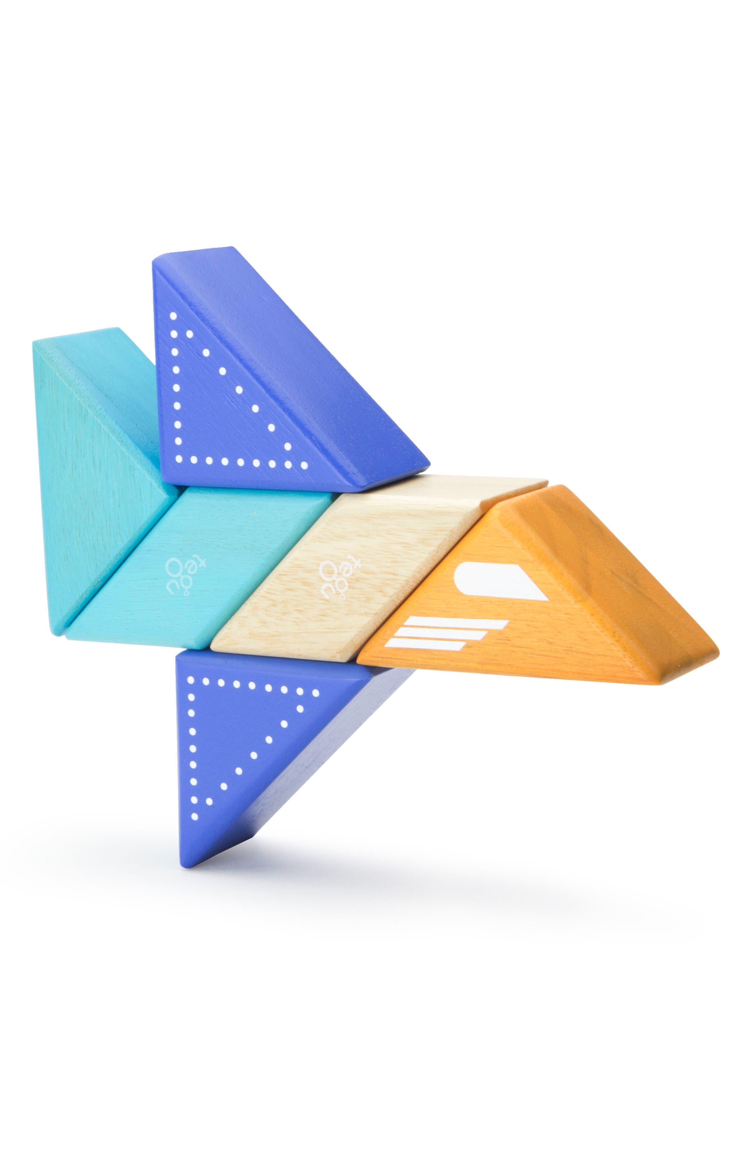 Travel Pals 6-Piece Jet Magnetic Block Set,                             Main thumbnail 1, color,                             Blue