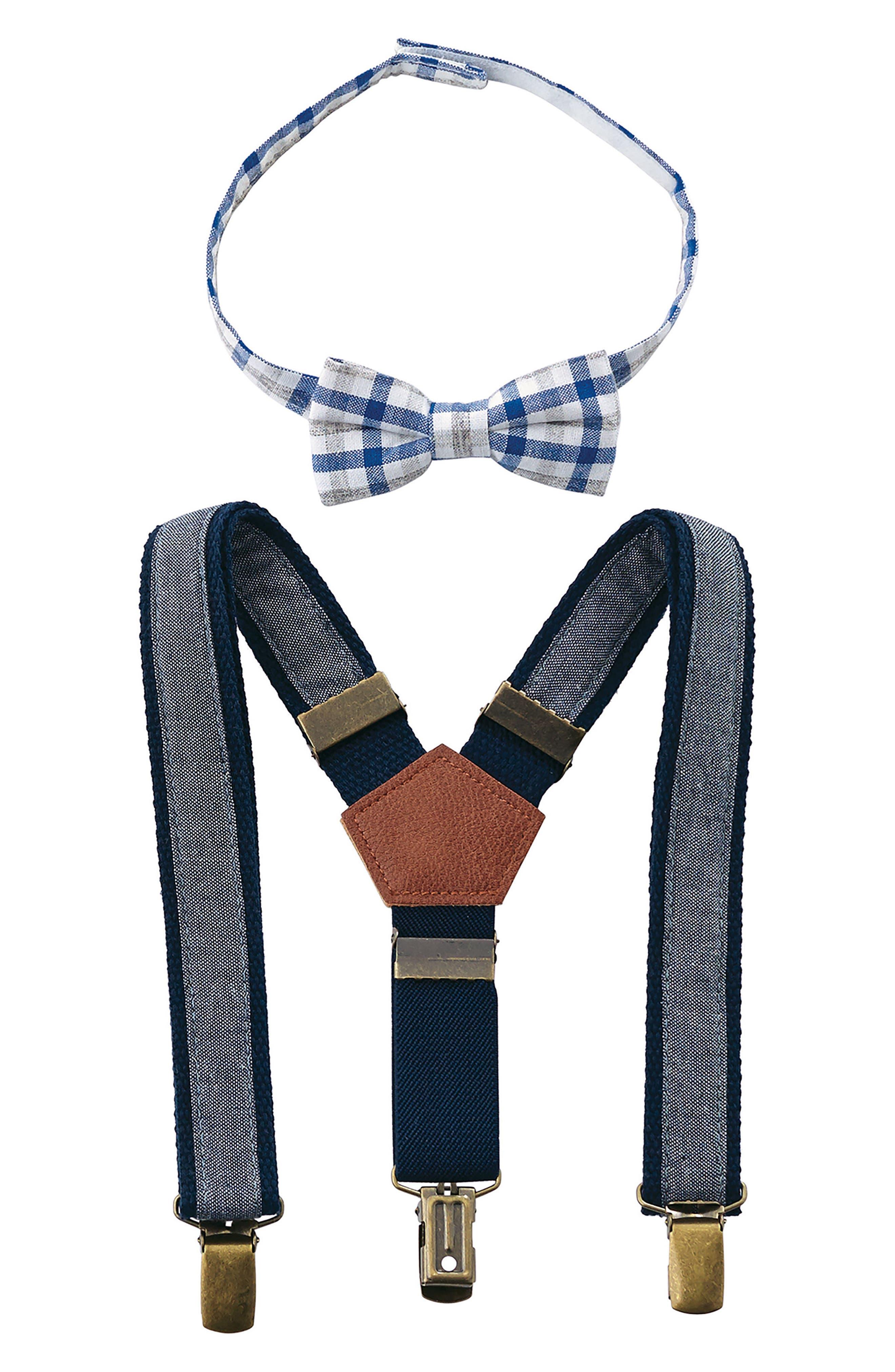Mud Pie Bow Tie & Suspender Set (Baby Boys)