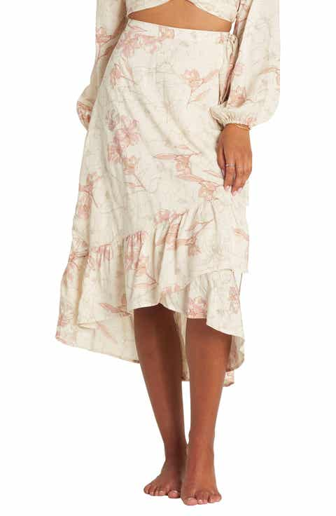 Billabong Dancing Til Dawn Wrap Skirt Best Price