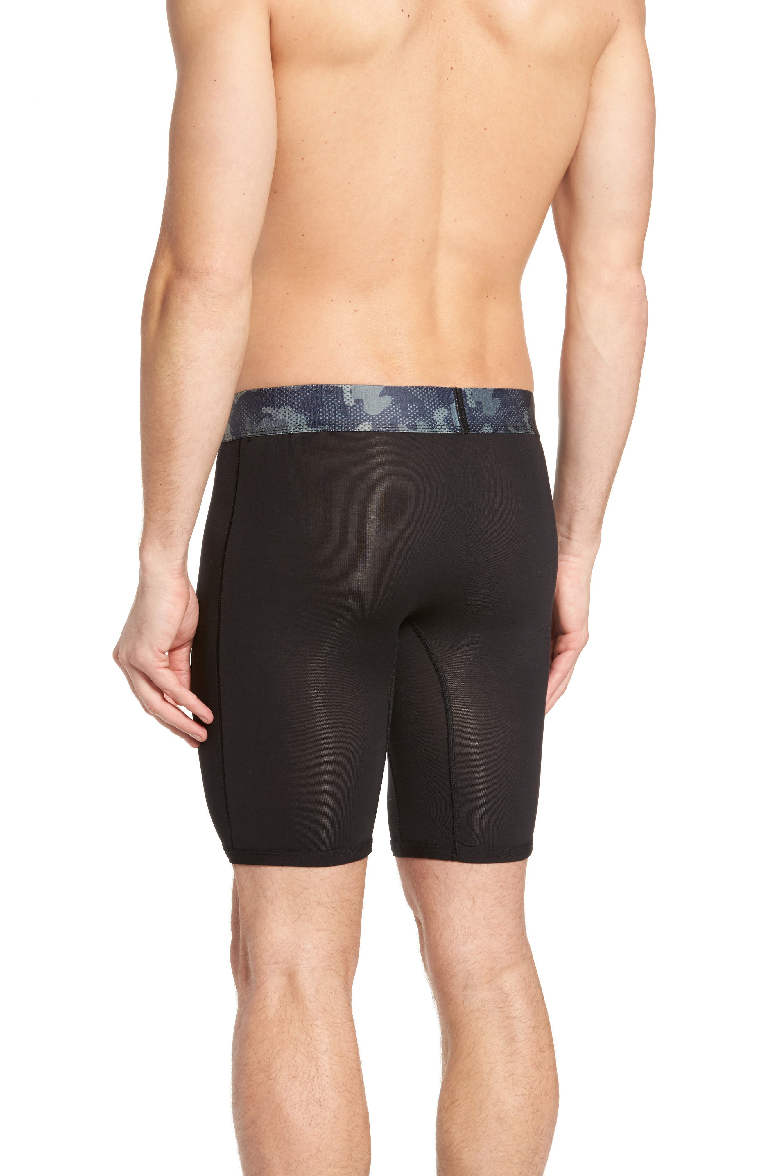 Second Skin Kevin Hart Boxer Briefs,                             Alternate thumbnail 2, color,                             Black