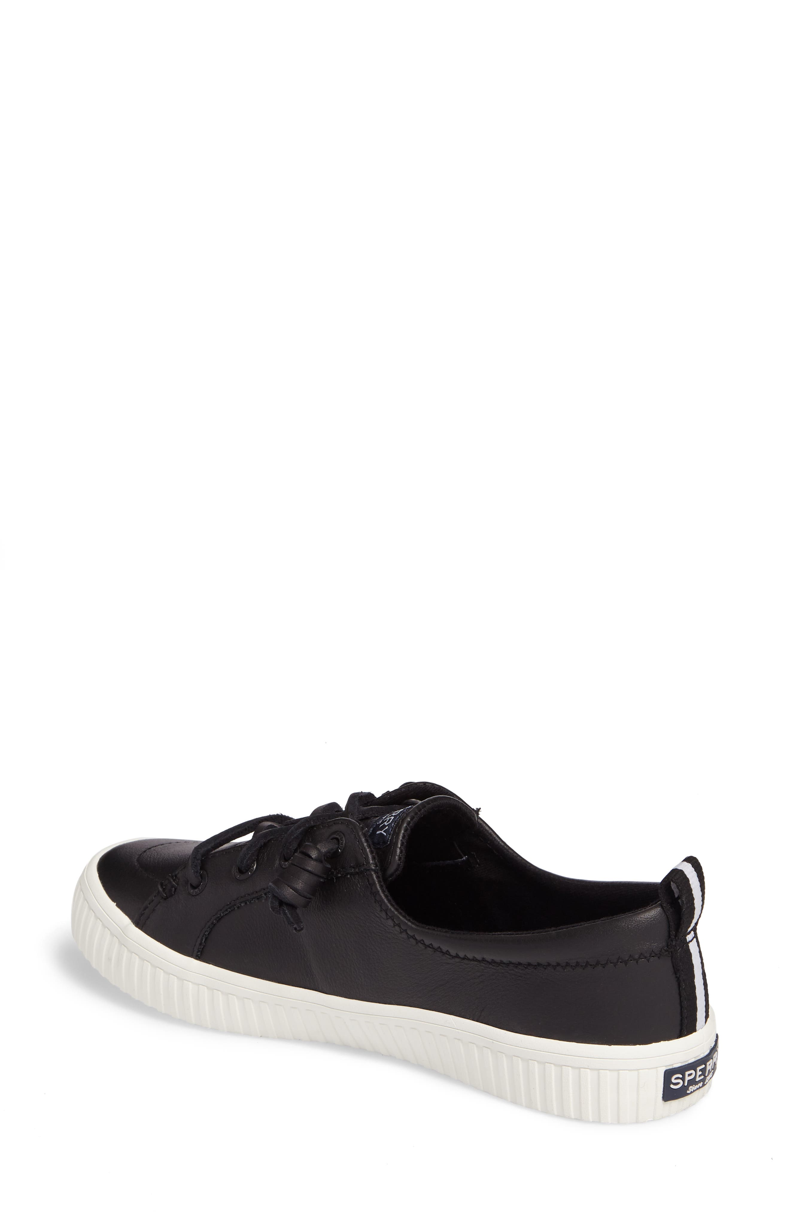 Crest Vibe Creeper Sneaker,                             Alternate thumbnail 2, color,                             Black Leather
