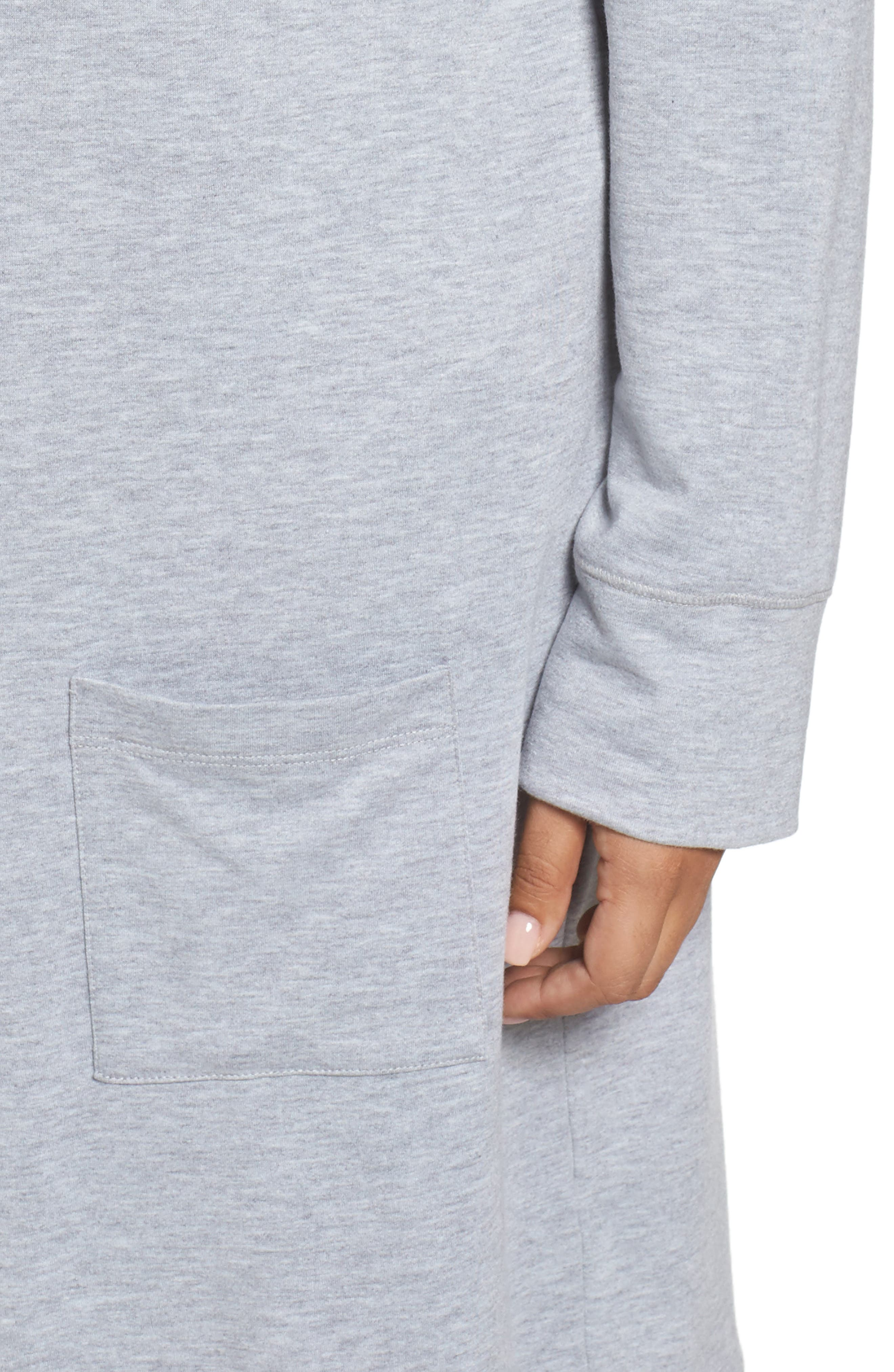 Alternate Image 4  - Caslon® Long French Terry Cardigan (Plus Size)