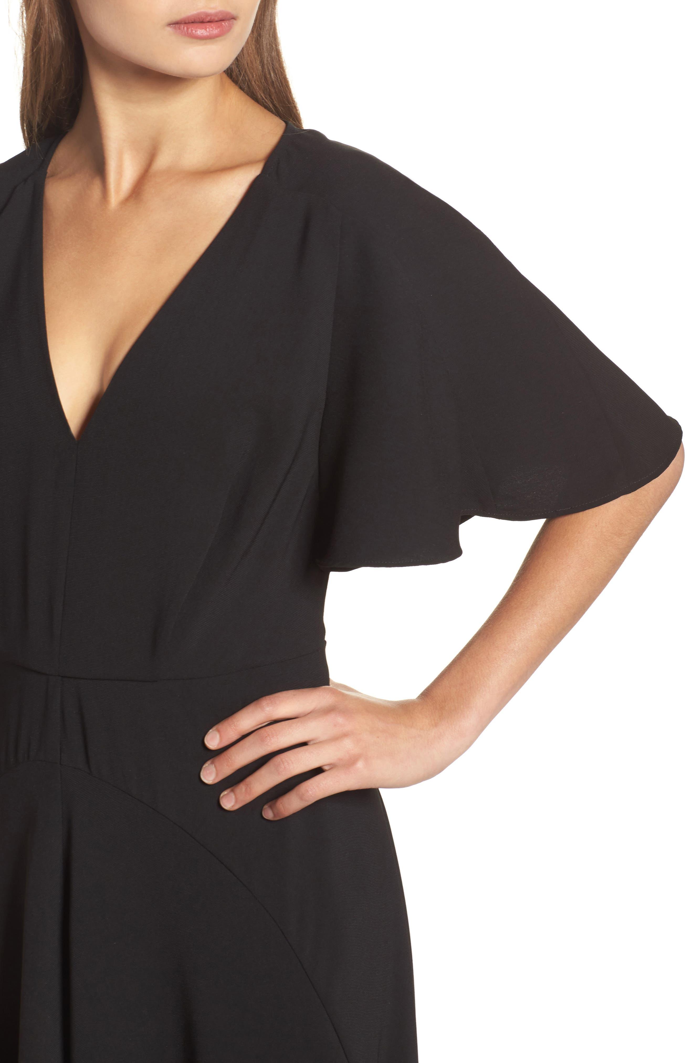 Kerry Maxi Dress,                             Alternate thumbnail 4, color,                             Black
