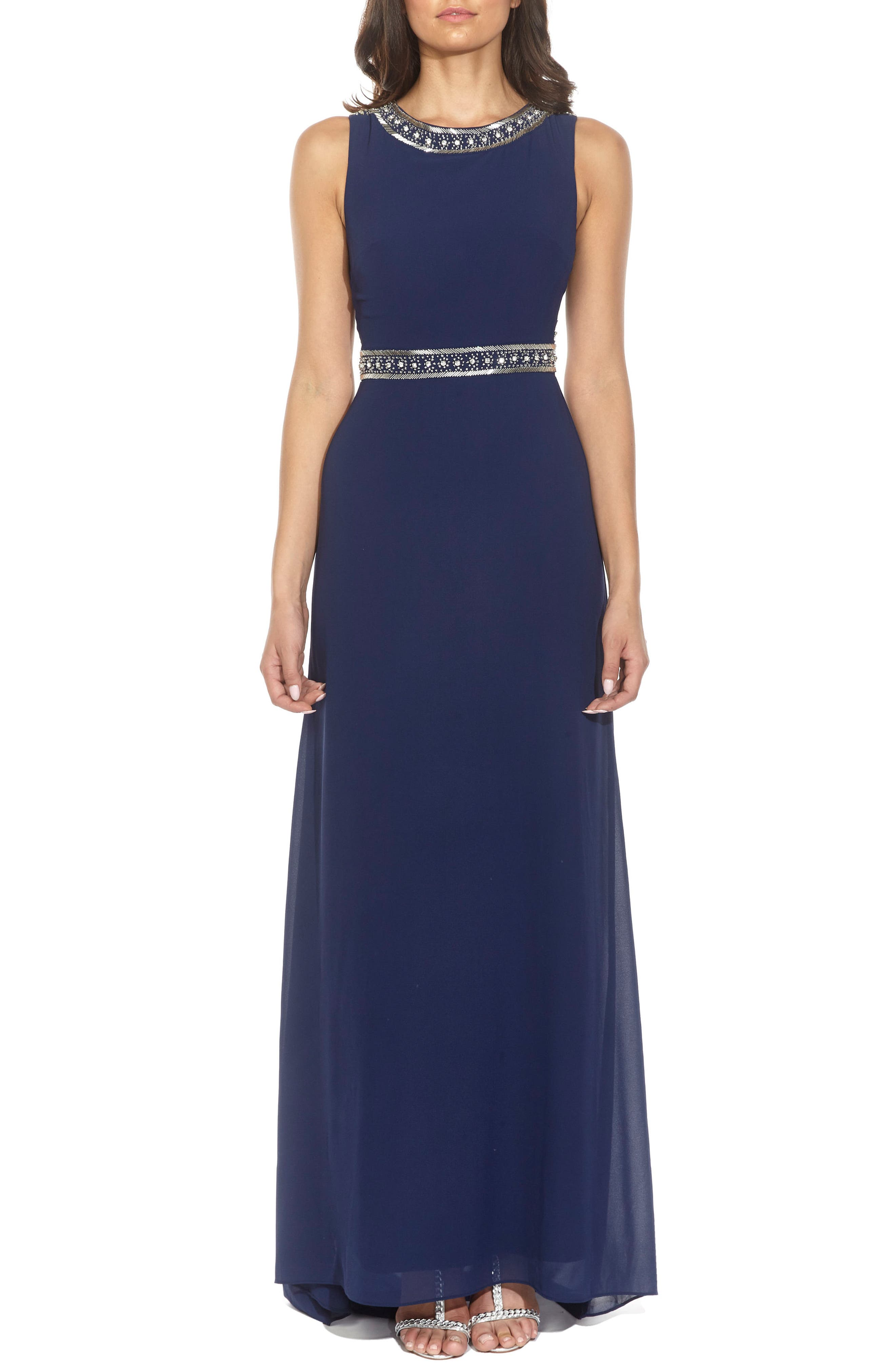 Alternate Image 1 Selected - TFNC Akira Bead Embellished Gown
