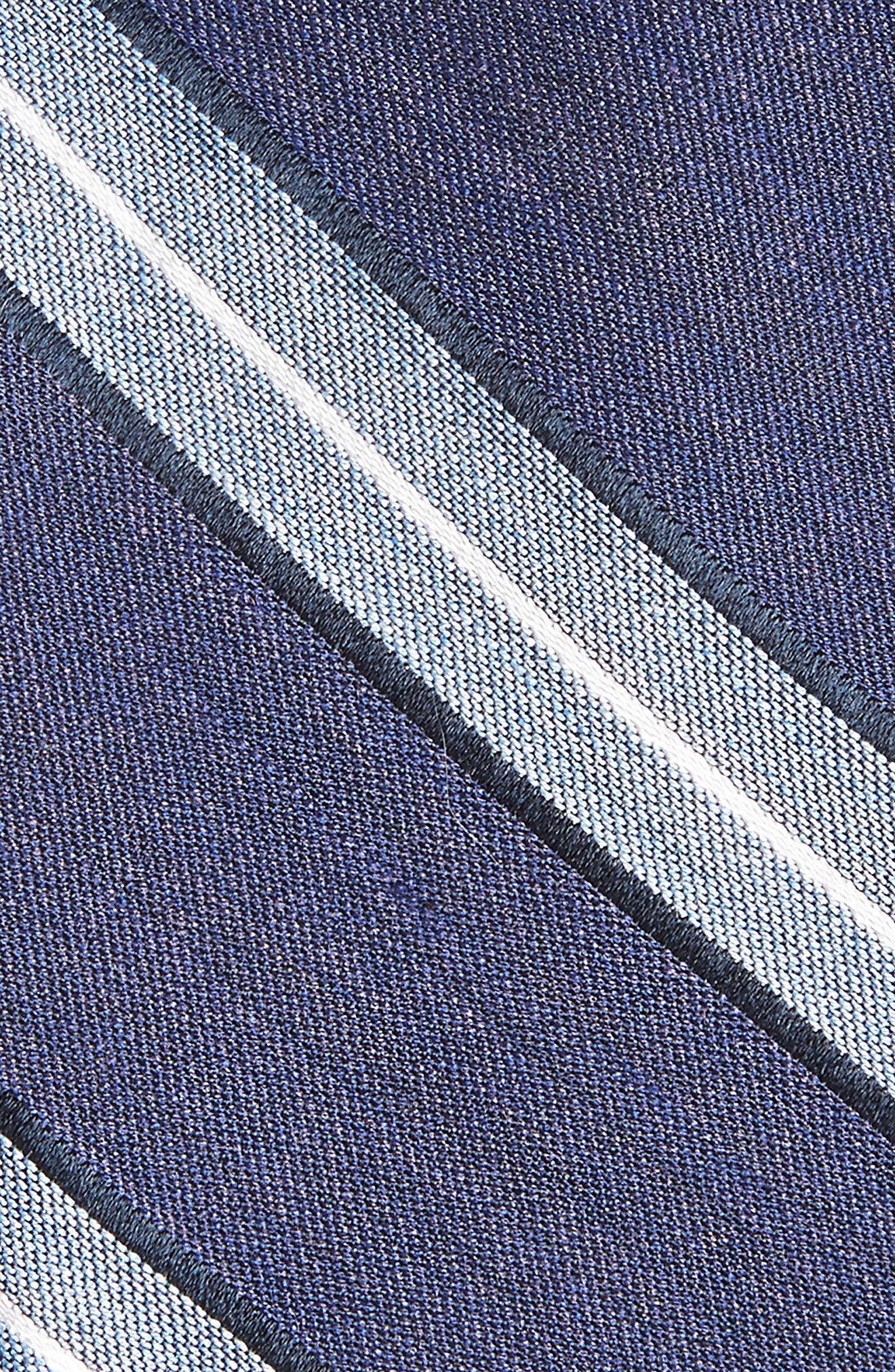 Peralba Stripe Silk Blend Tie,                             Alternate thumbnail 2, color,                             Navy