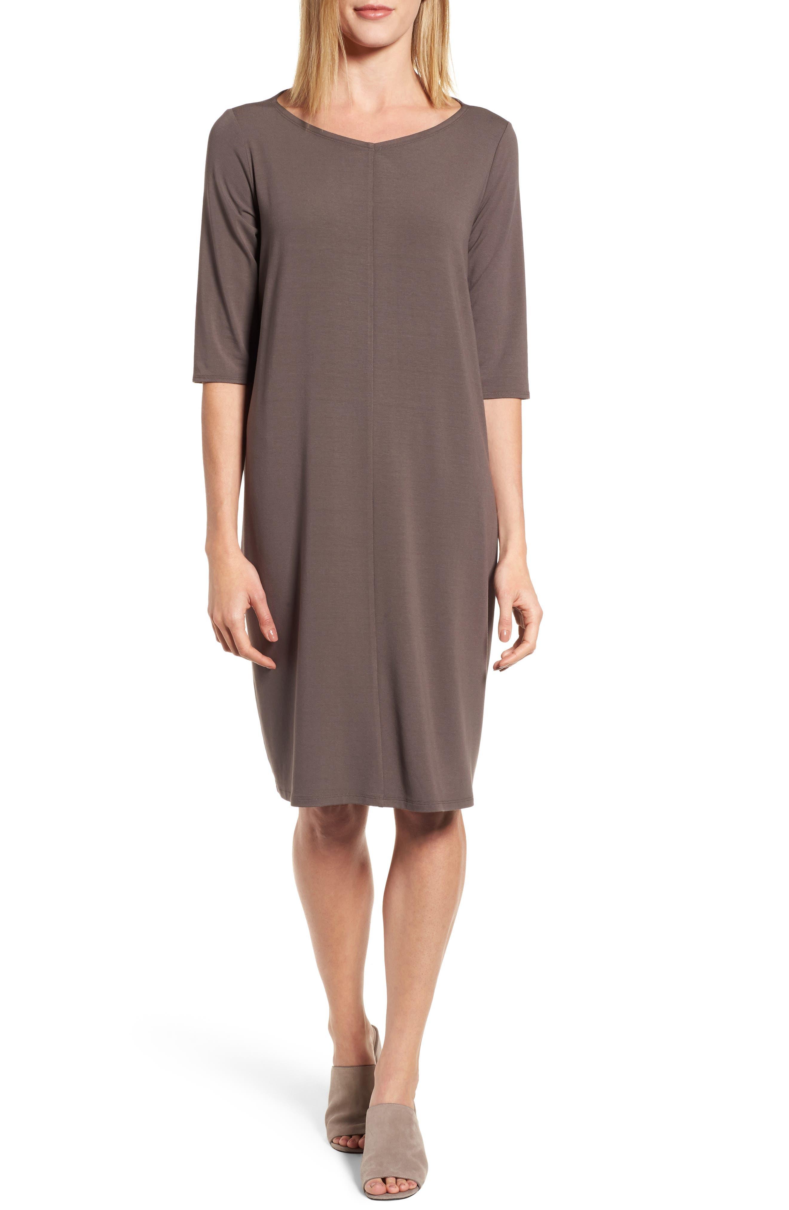 Main Image - Eileen Fisher Jersey Shift Dress