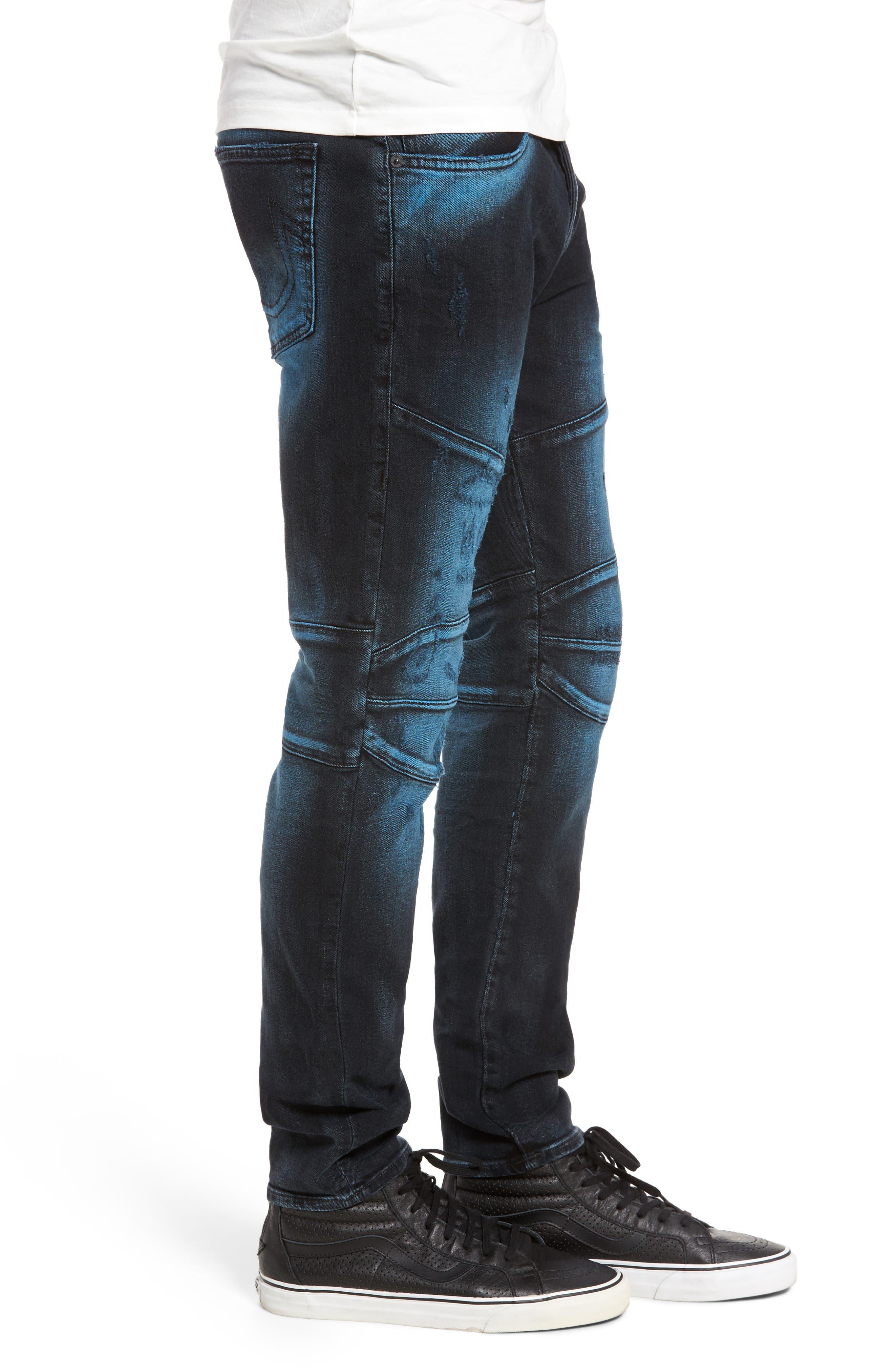 Rocco Skinny Fit Jeans,                             Alternate thumbnail 3, color,                             Blue Blaze
