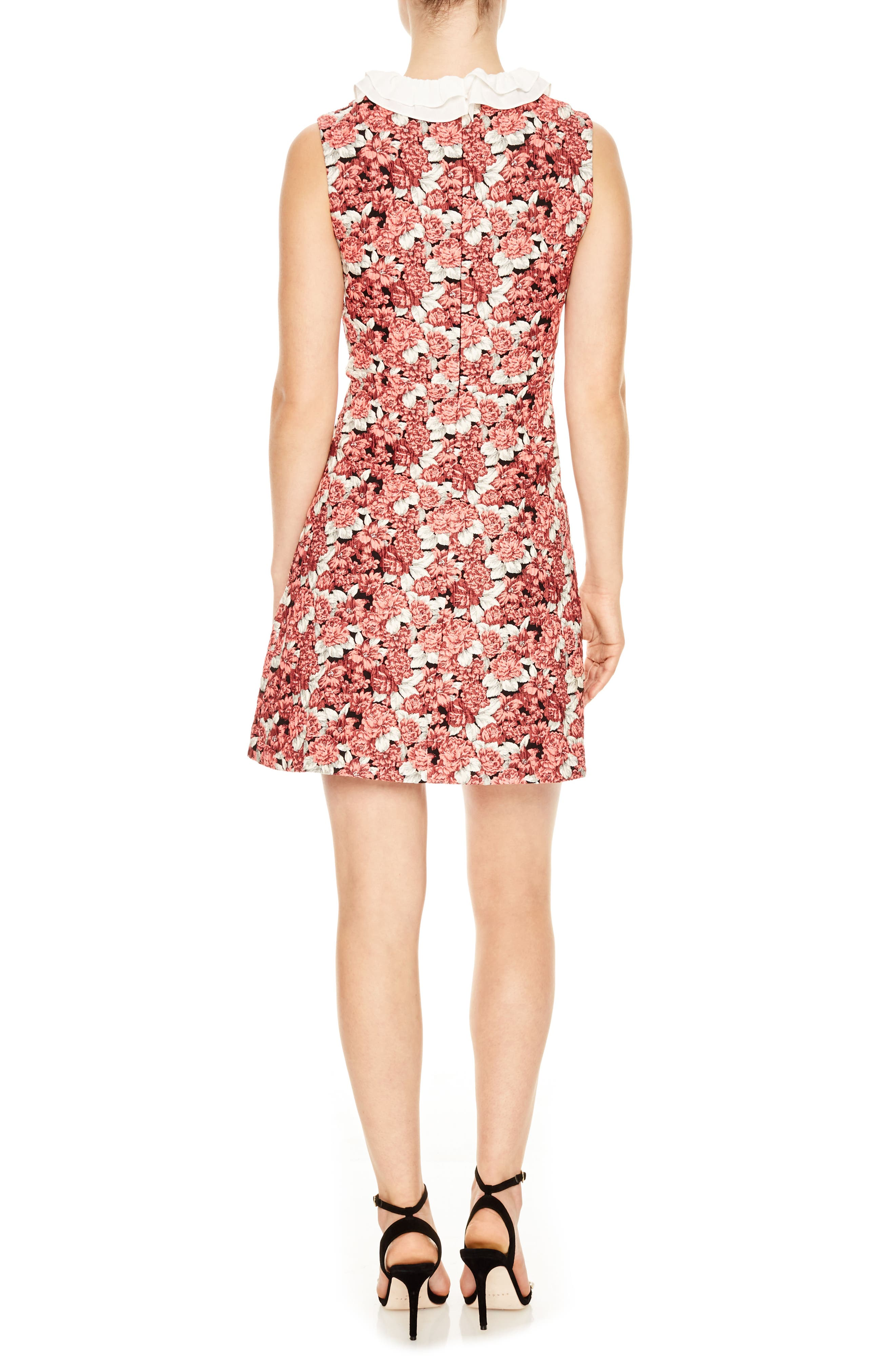 Edwige Floral Print Sheath Dress,                             Alternate thumbnail 2, color,                             Pink
